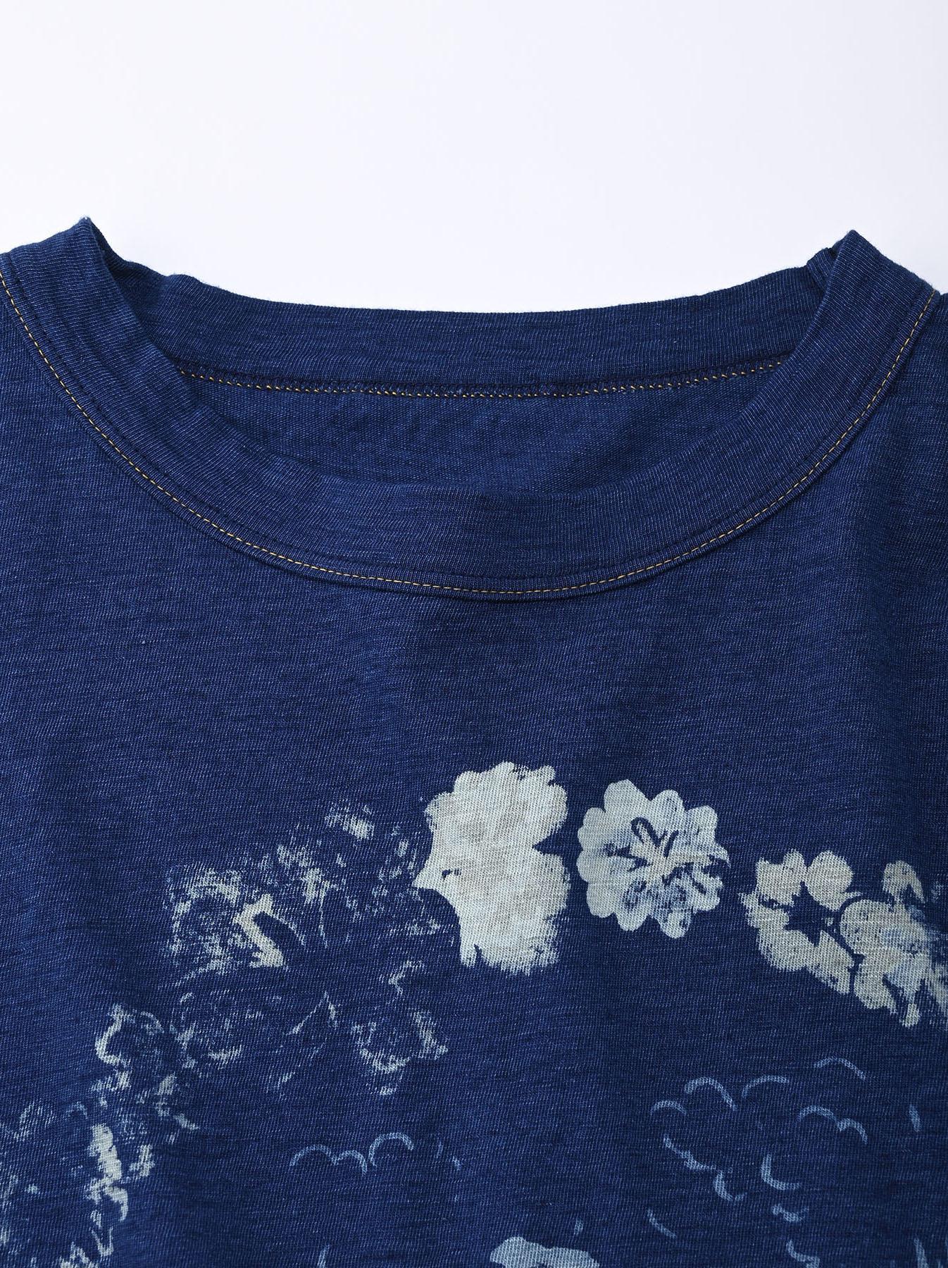Indigo Lei Surf Print 908 Ocean T-Shirt (0521)-7