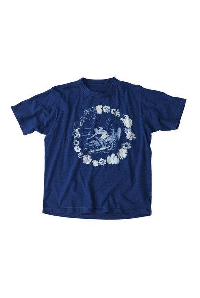 Indigo Lei Surf Print 908 Ocean T-Shirt (0521)