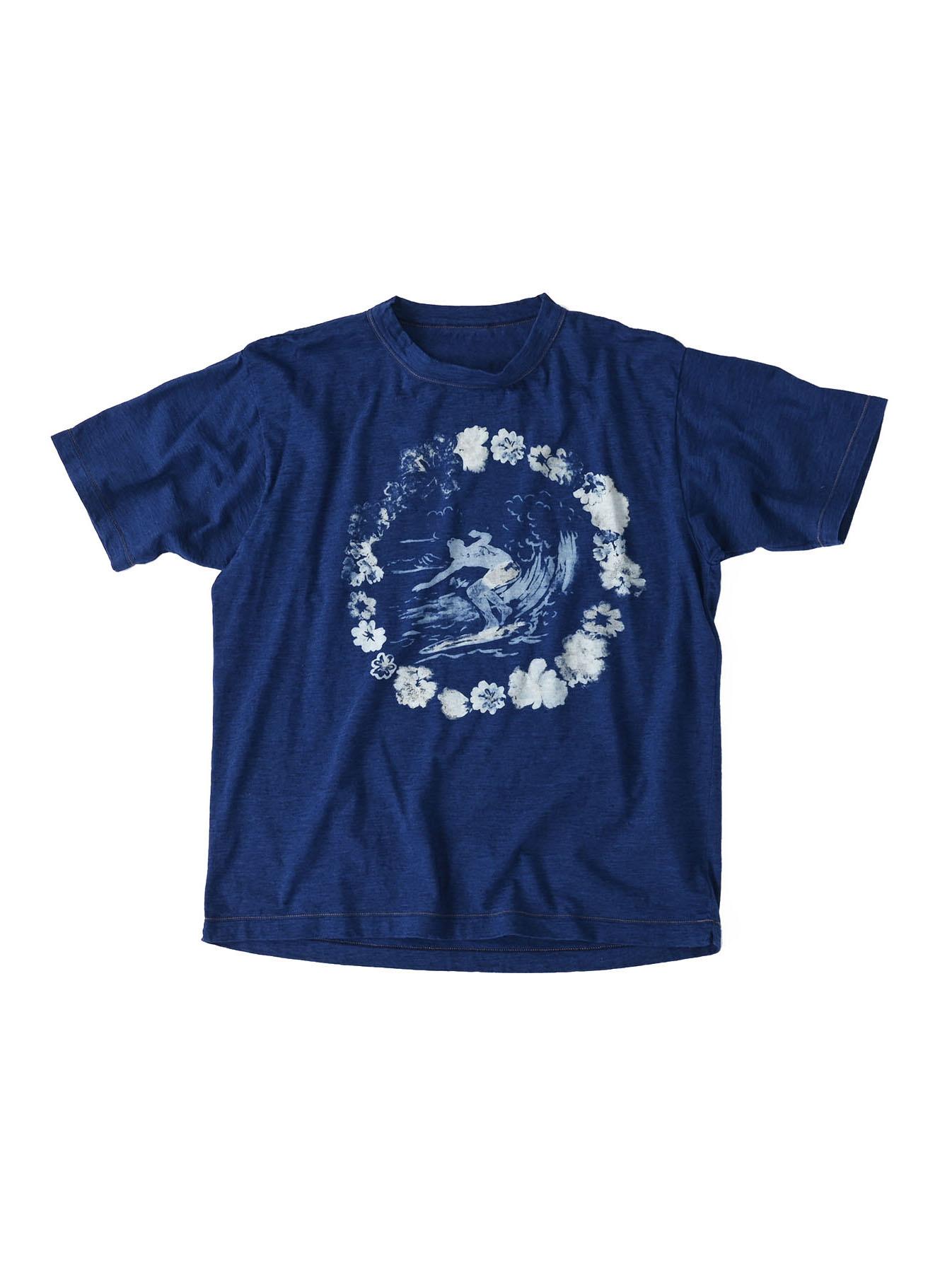 Indigo Lei Surf Print 908 Ocean T-Shirt (0521)-1
