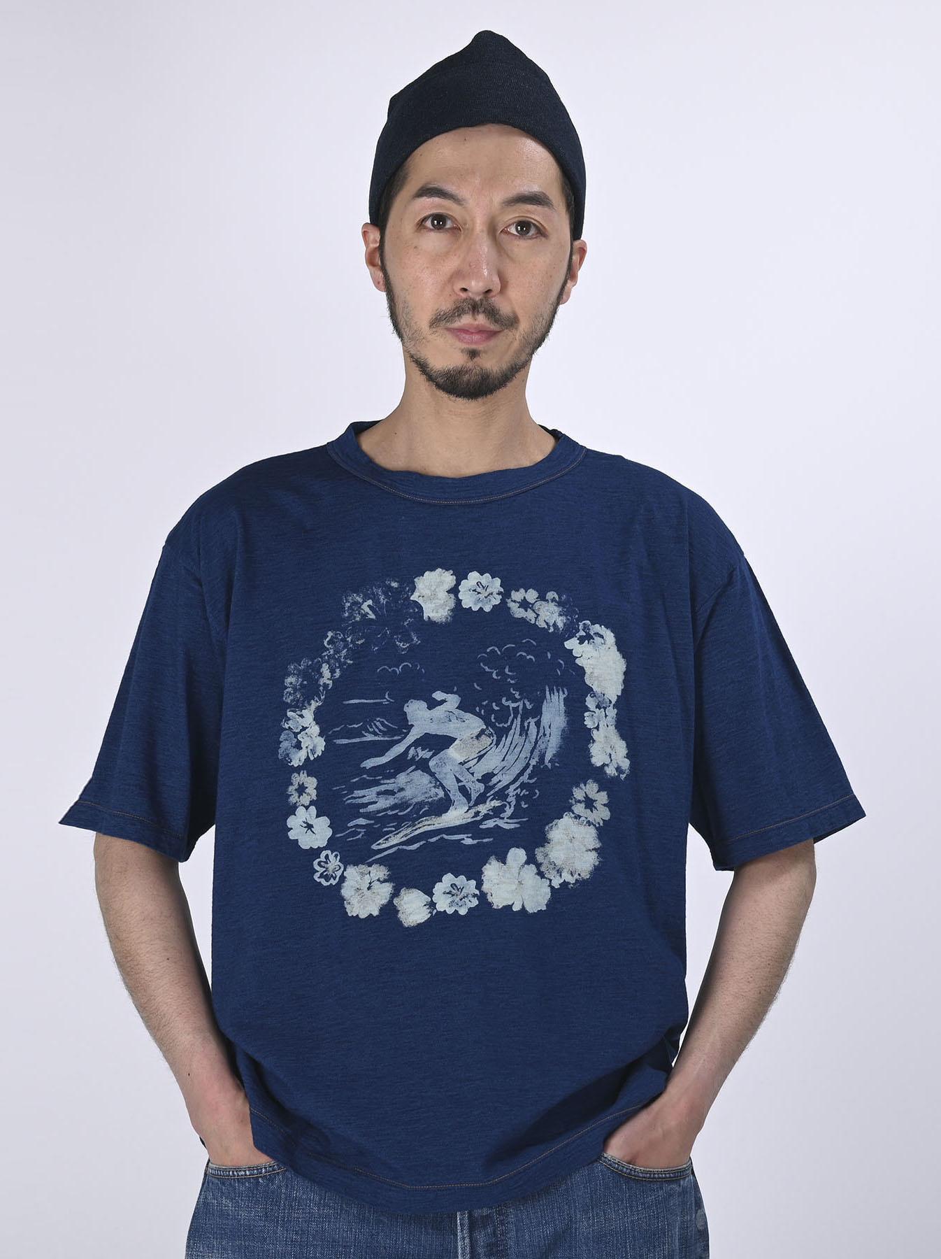 Indigo Lei Surf Print 908 Ocean T-Shirt (0521)-3
