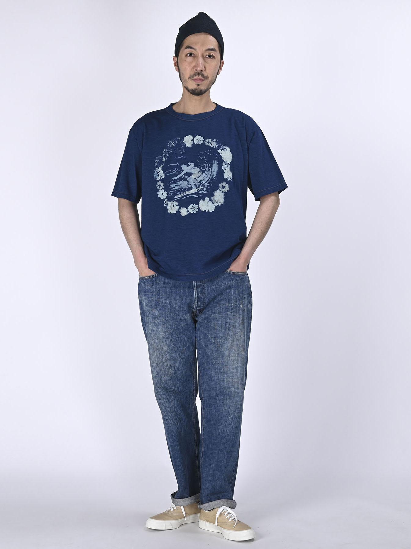 Indigo Lei Surf Print 908 Ocean T-Shirt (0521)-2