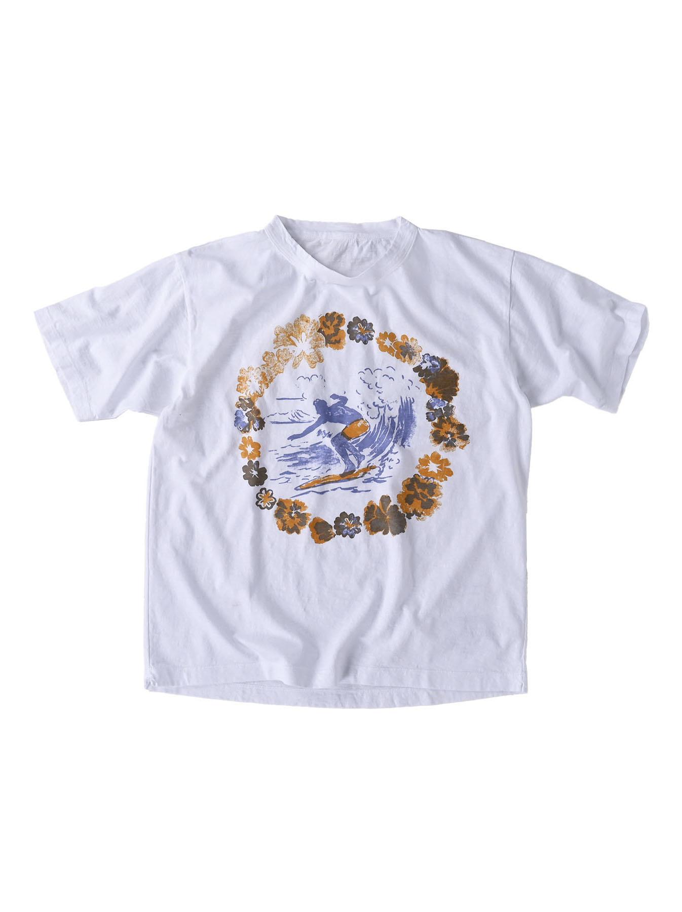 Lei Surf Print 908 Ocean T-Shirt (0521)-1