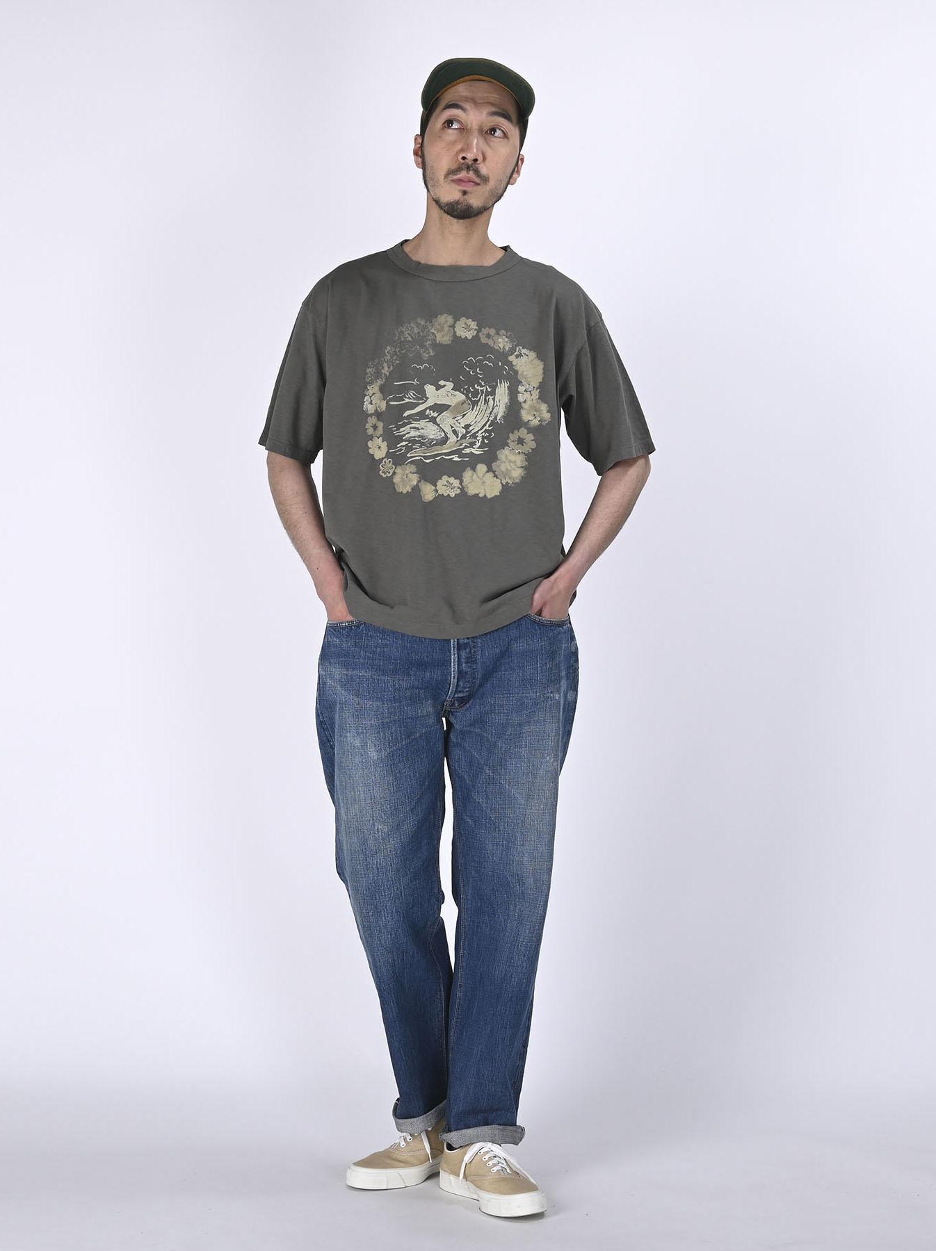 Lei Surf Print 908 Ocean T-Shirt (0521)-2