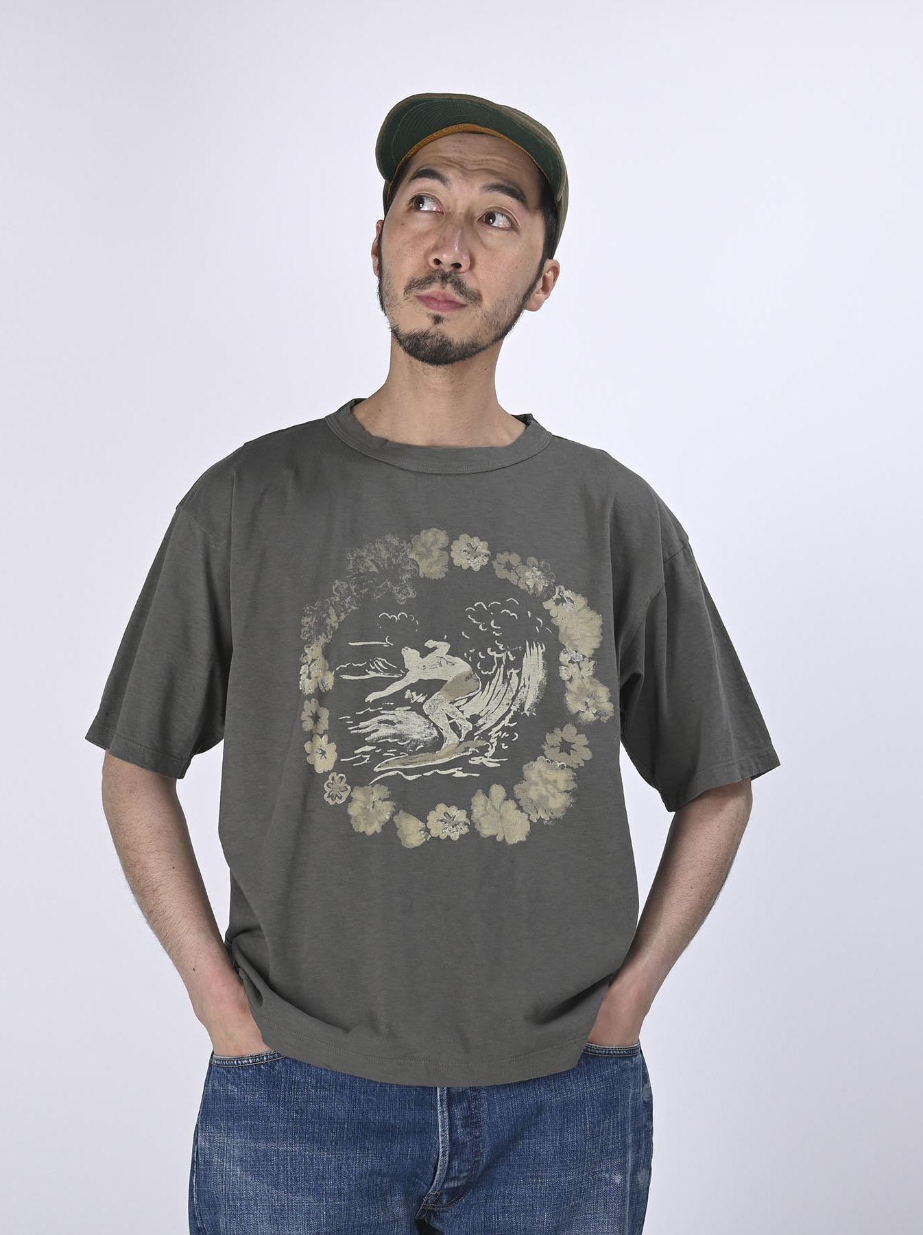 Lei Surf Print 908 Ocean T-Shirt (0521)-4