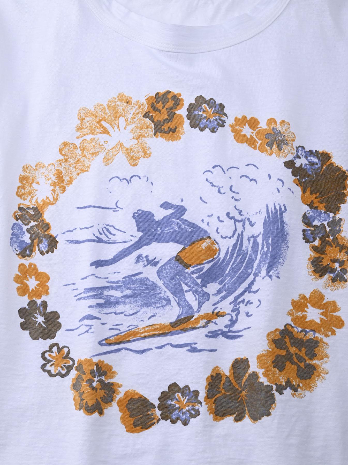 Lei Surf Print 908 Ocean T-Shirt (0521)-8