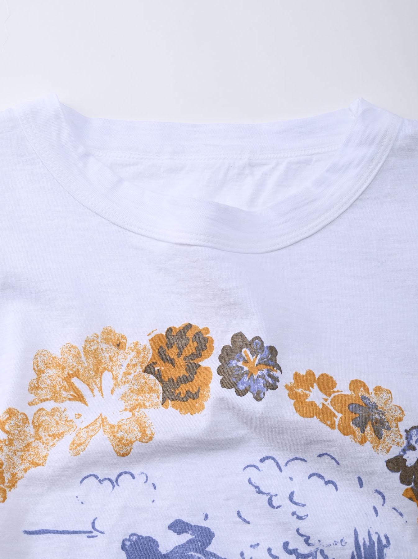 Lei Surf Print 908 Ocean T-Shirt (0521)-7