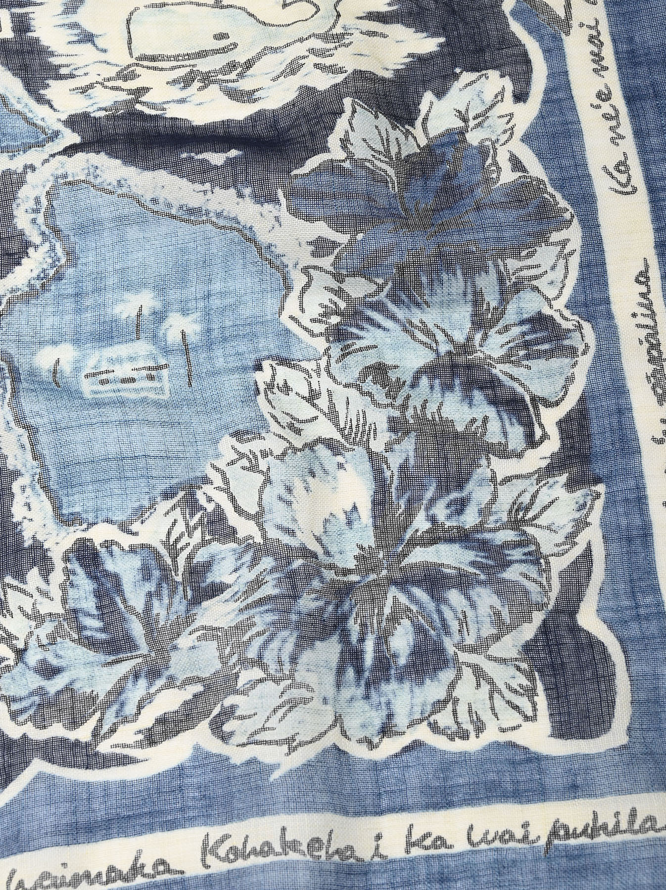 Indigo 30-Gauze Souvenir Bandana (0521)-7
