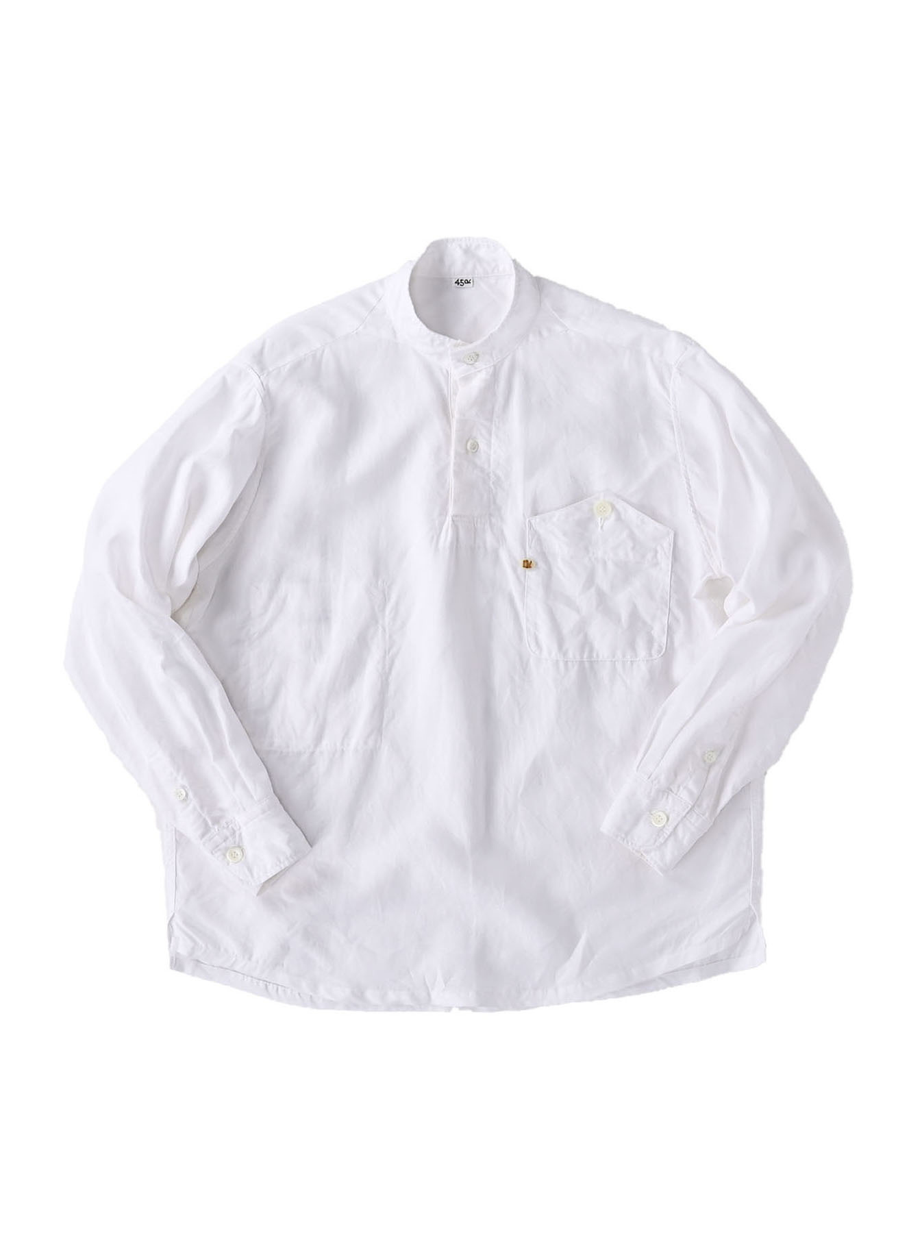 Linen 908 Ocean Pull Shirt (0521)-1