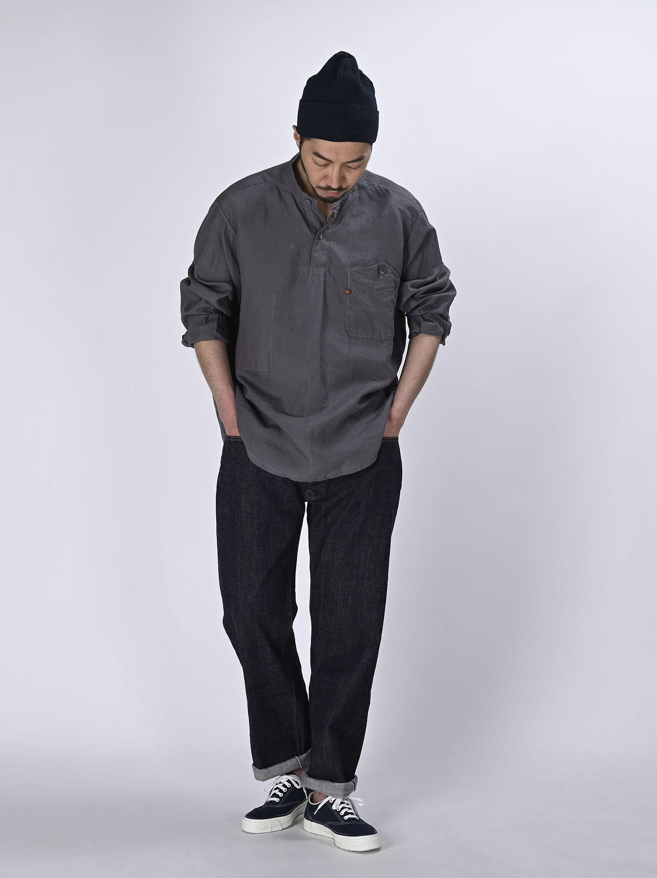 Linen 908 Ocean Pull Shirt (0521)-2