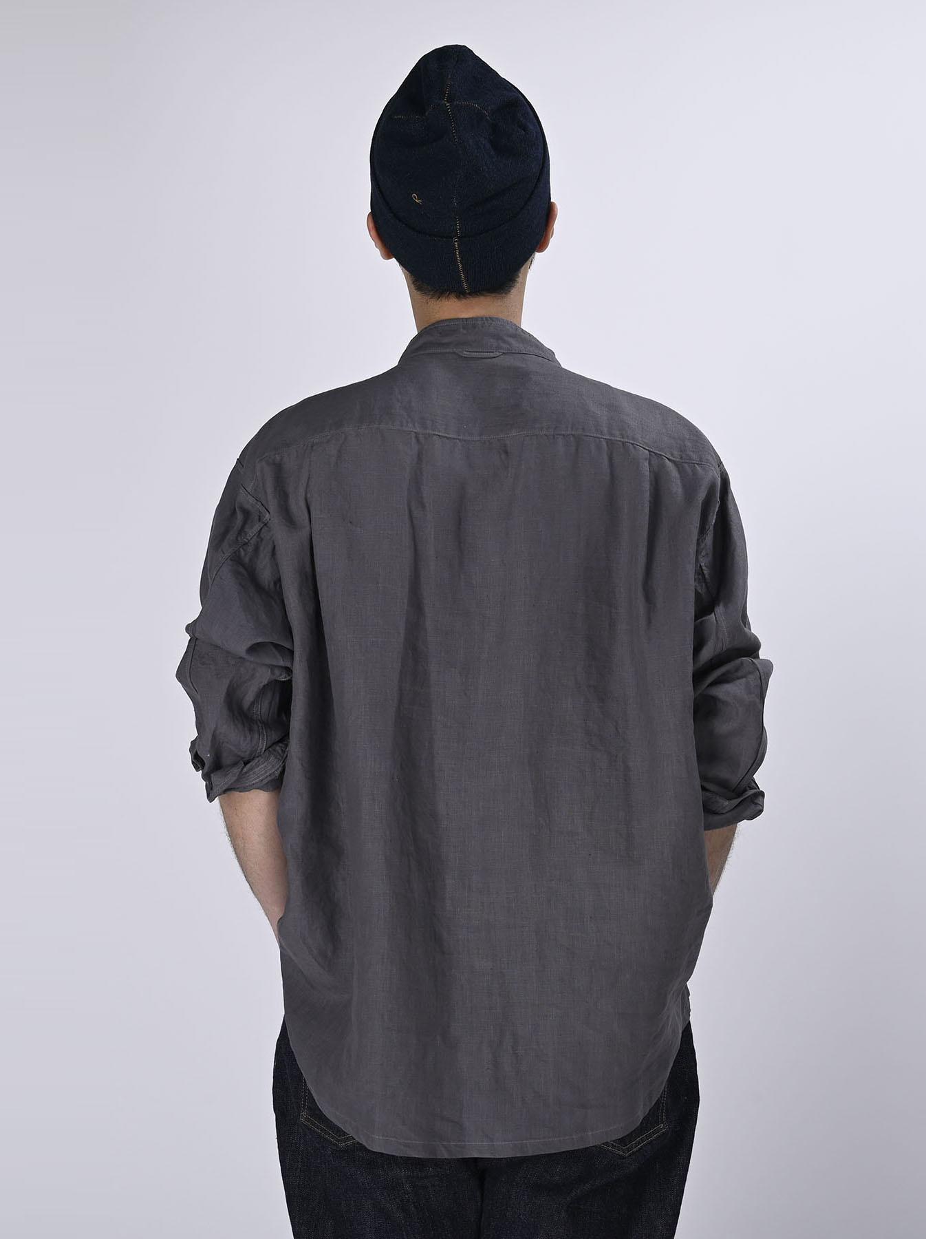Linen 908 Ocean Pull Shirt (0521)-3