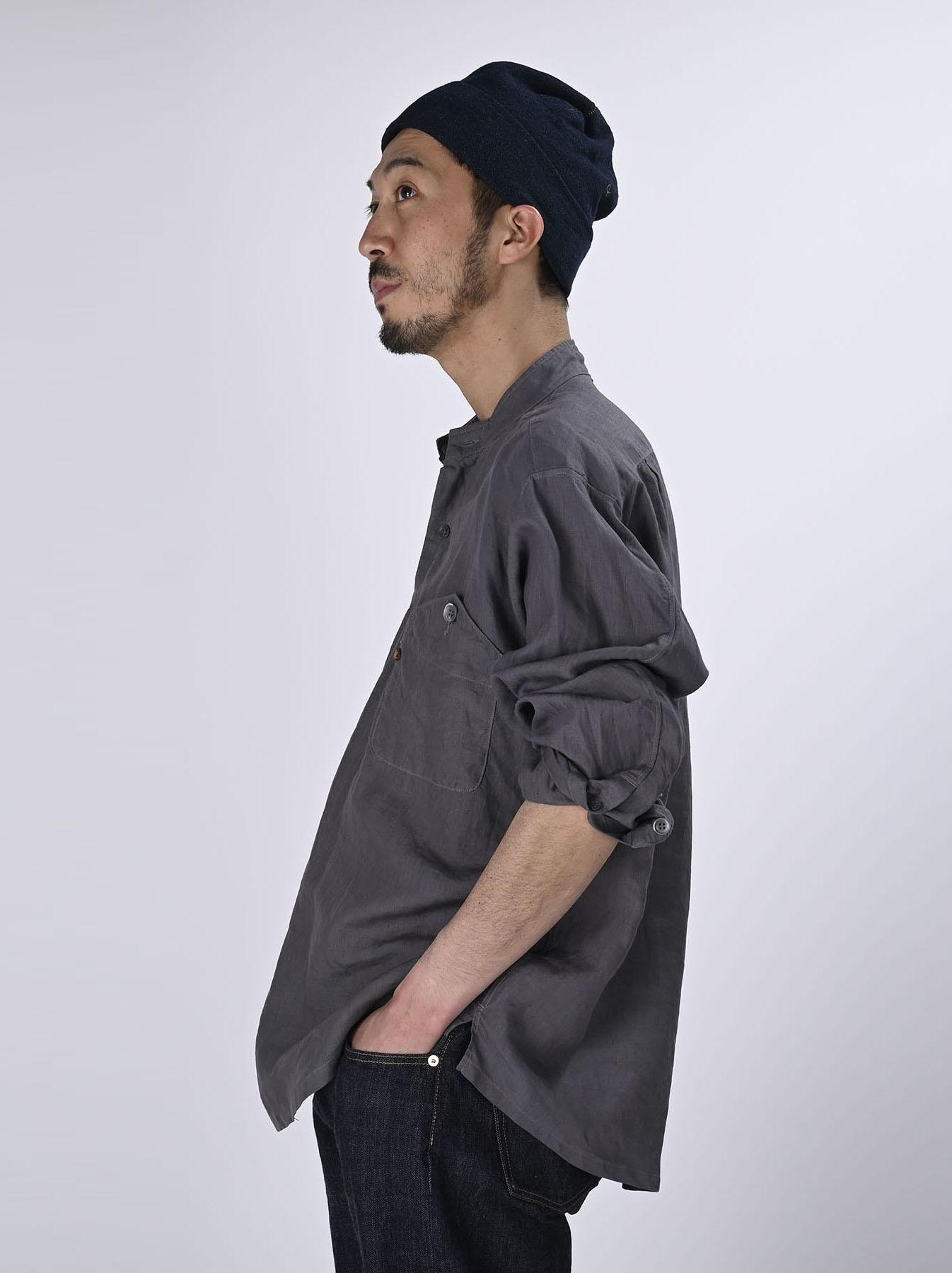 Linen 908 Ocean Pull Shirt (0521)-4