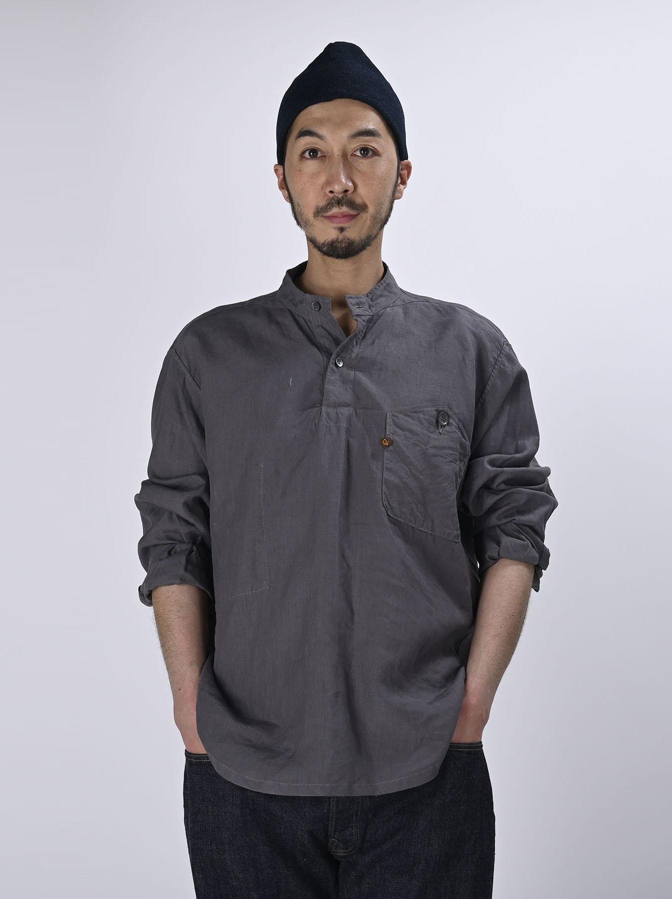 Linen 908 Ocean Pull Shirt (0521)-5