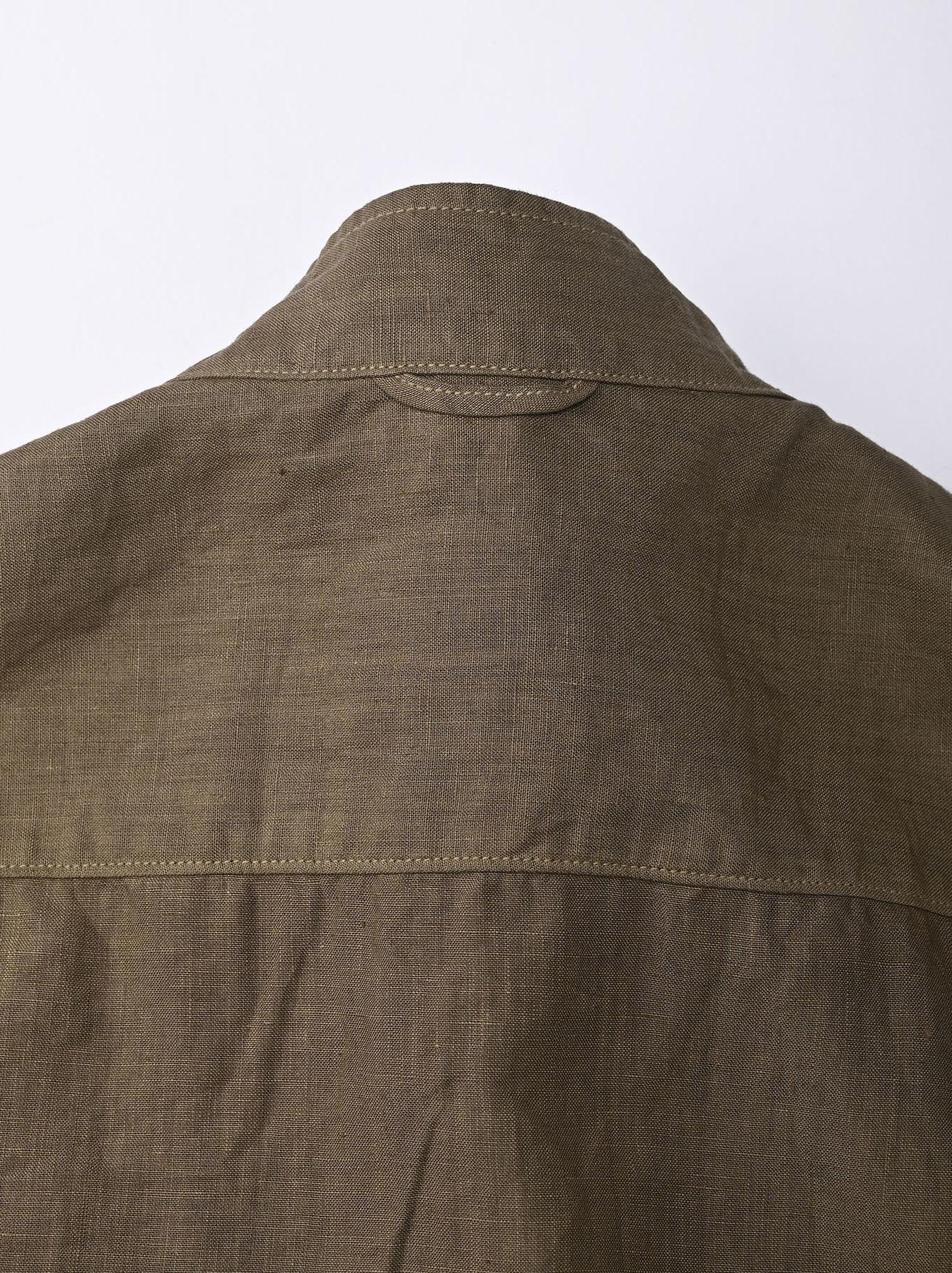 Linen 908 Ocean Pull Shirt (0521)-8