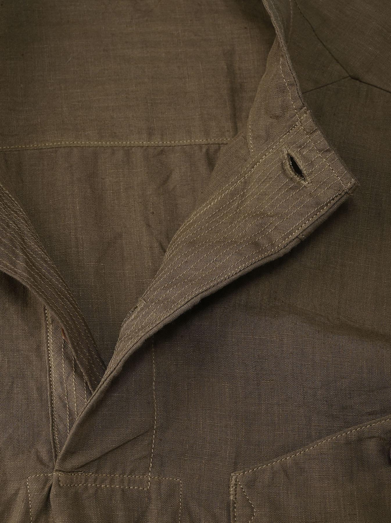 Linen 908 Ocean Pull Shirt (0521)-7