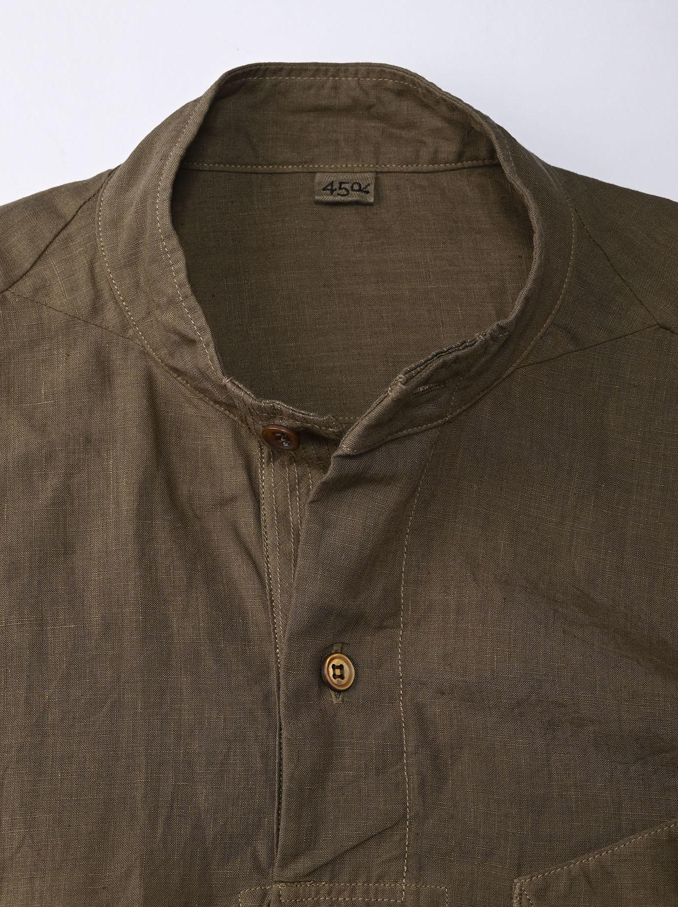 Linen 908 Ocean Pull Shirt (0521)-6