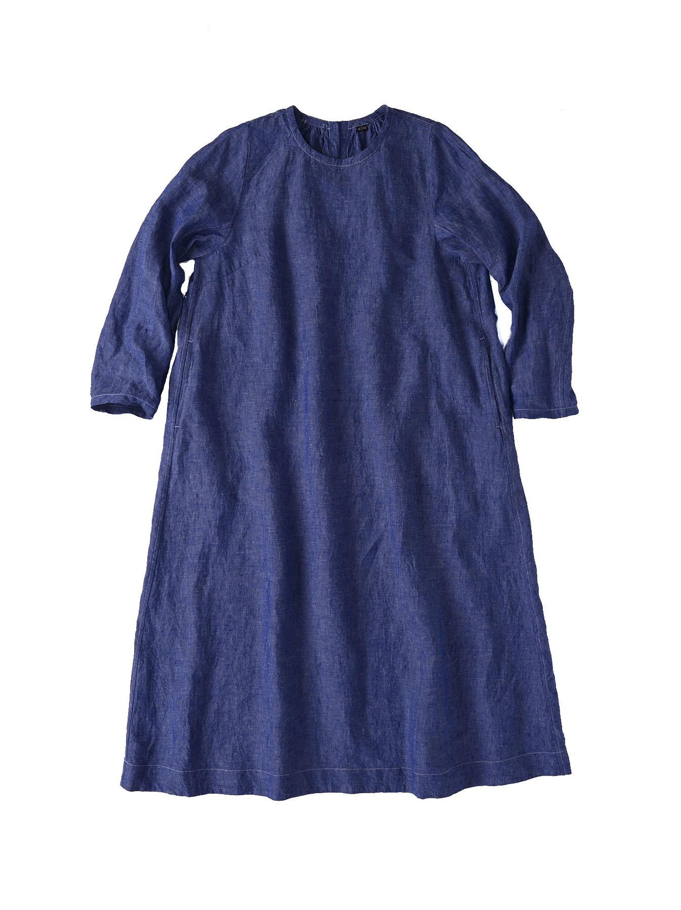 Indian Linen Dress (0521)-5