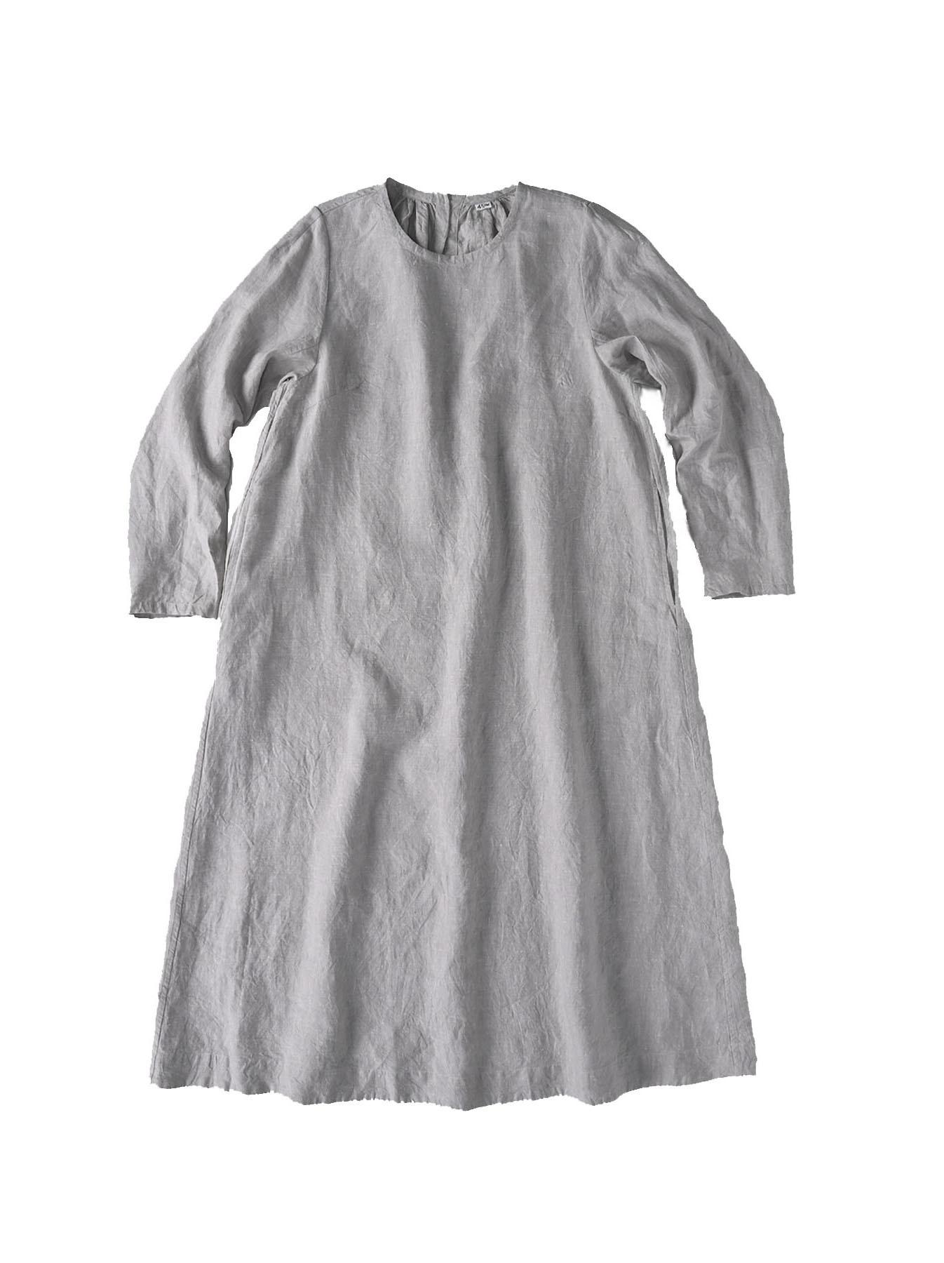 Indian Linen Dress (0521)-1