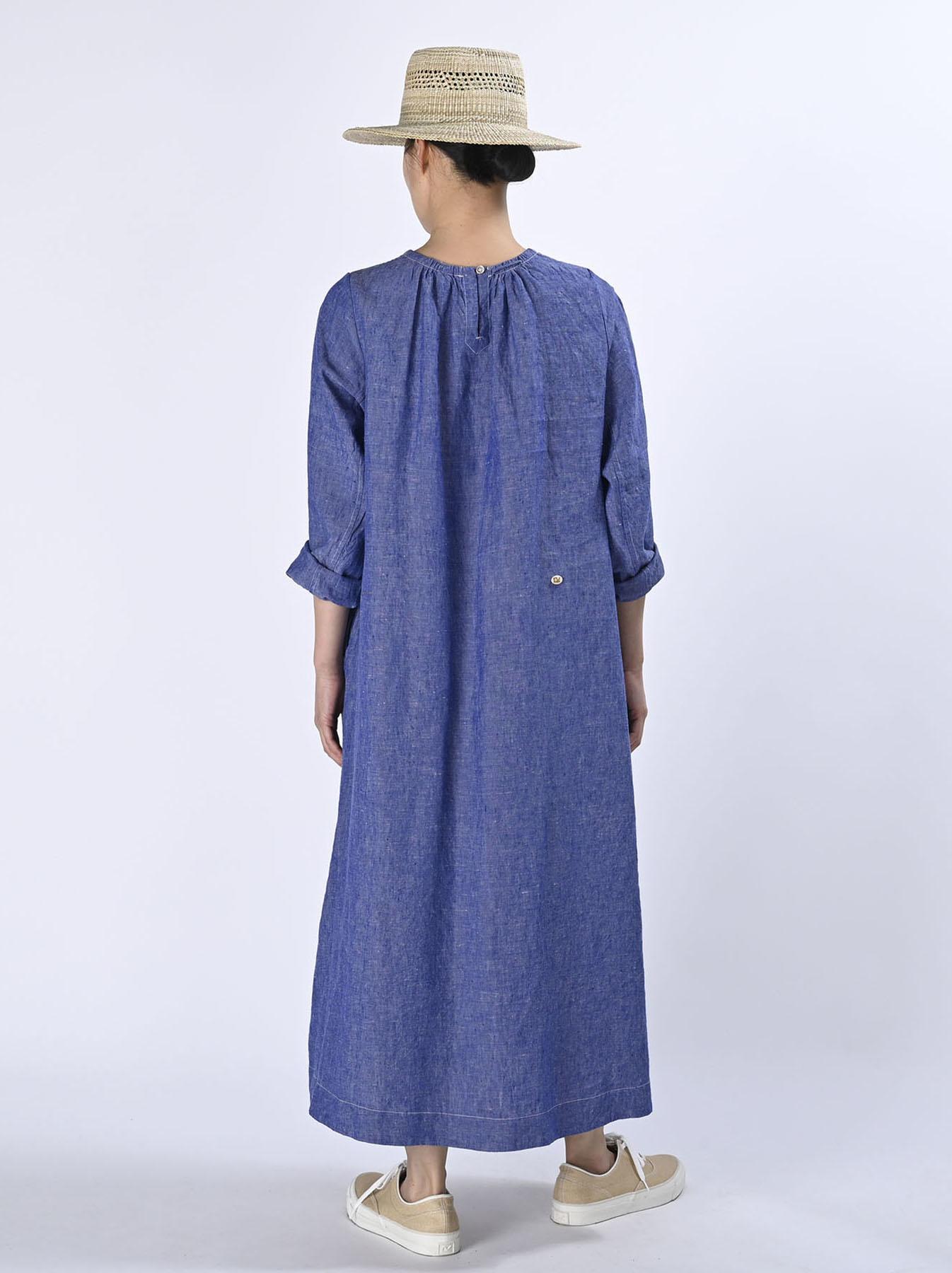 Indian Linen Dress (0521)-3