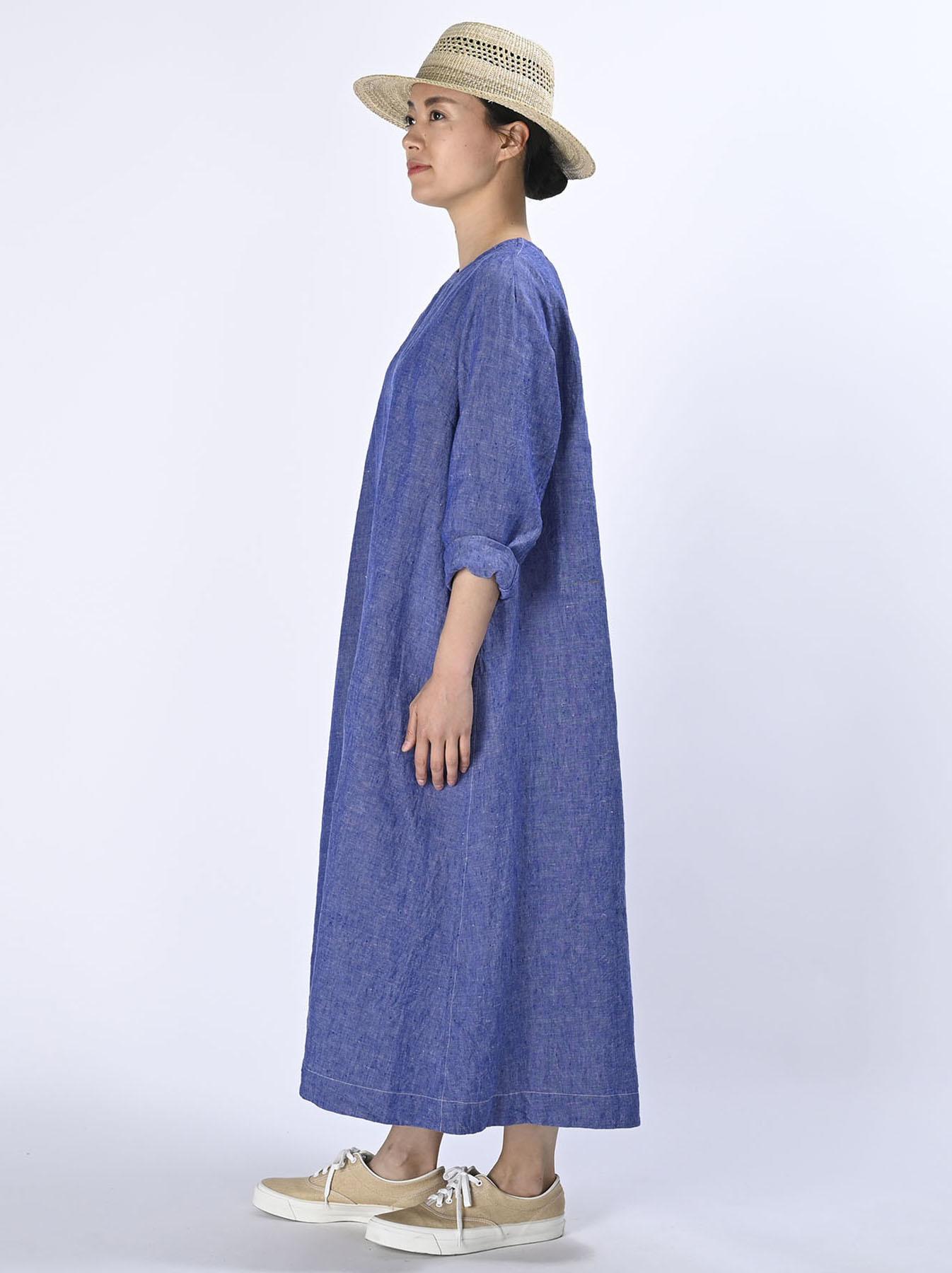 Indian Linen Dress (0521)-4