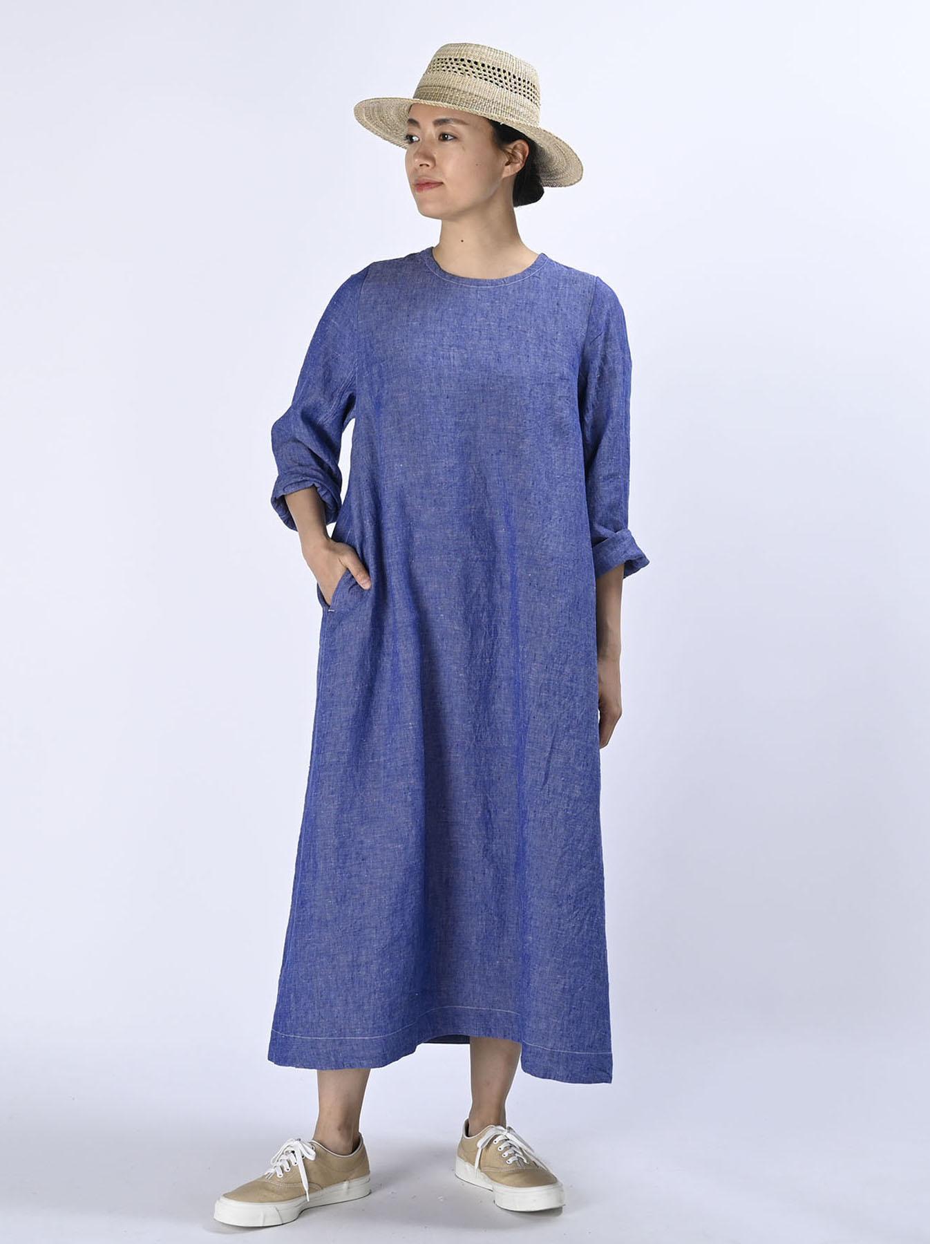 Indian Linen Dress (0521)-2