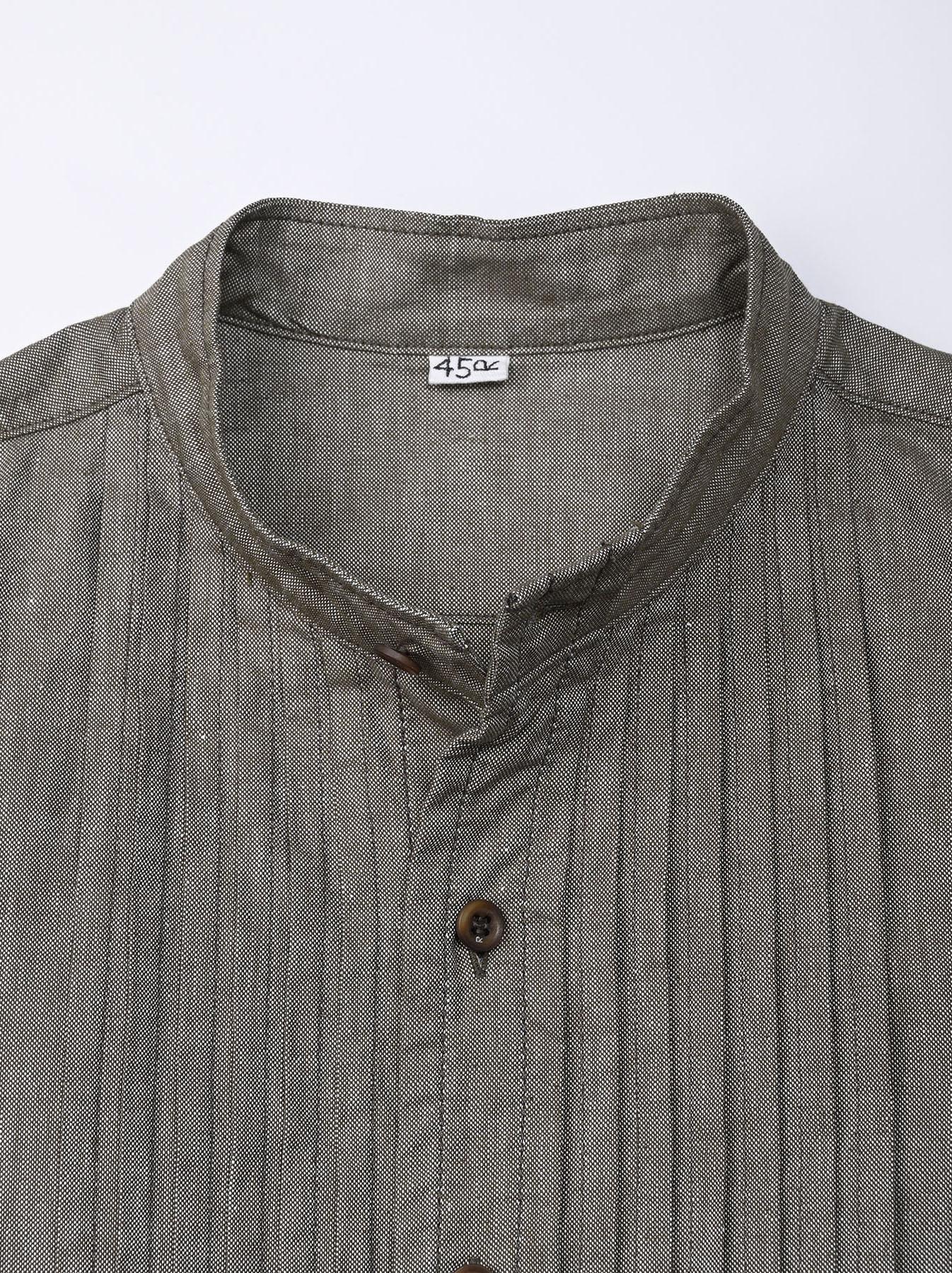 Zimbabwe Cotton Oxford Tuck Shirt Dress (0521)-8