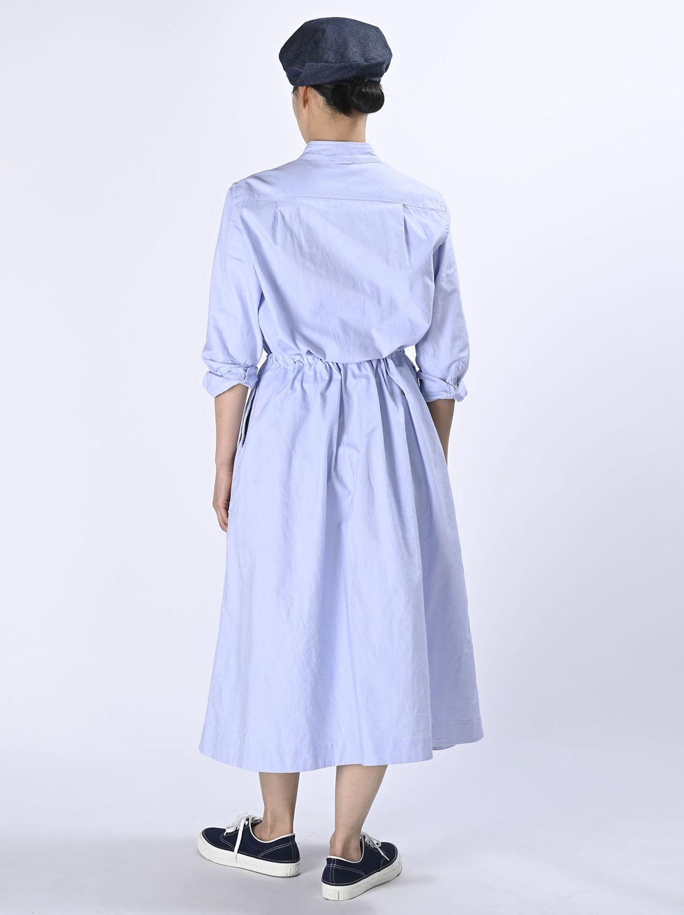 Zimbabwe Cotton Oxford Tuck Shirt Dress (0521)-4