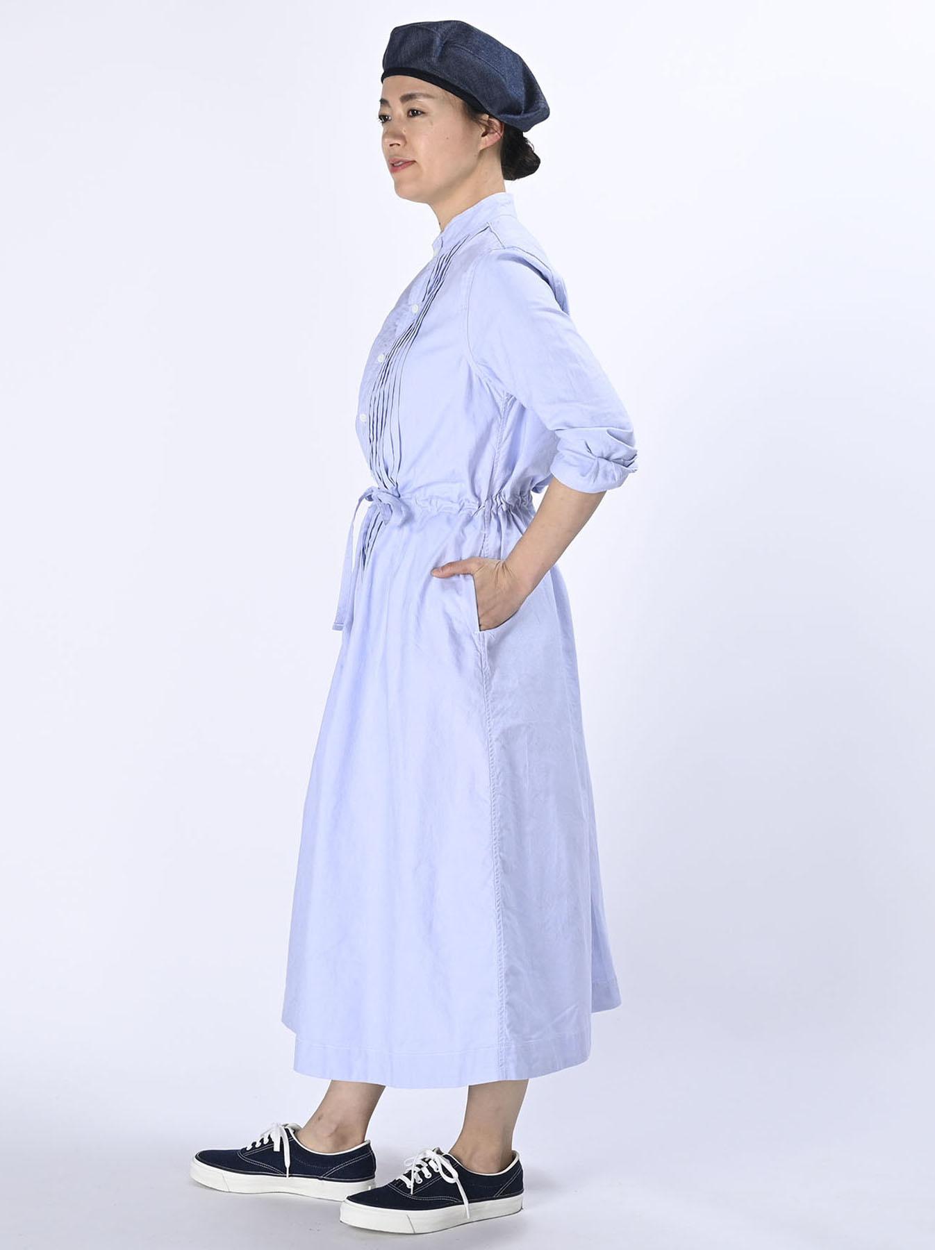 Zimbabwe Cotton Oxford Tuck Shirt Dress (0521)-5