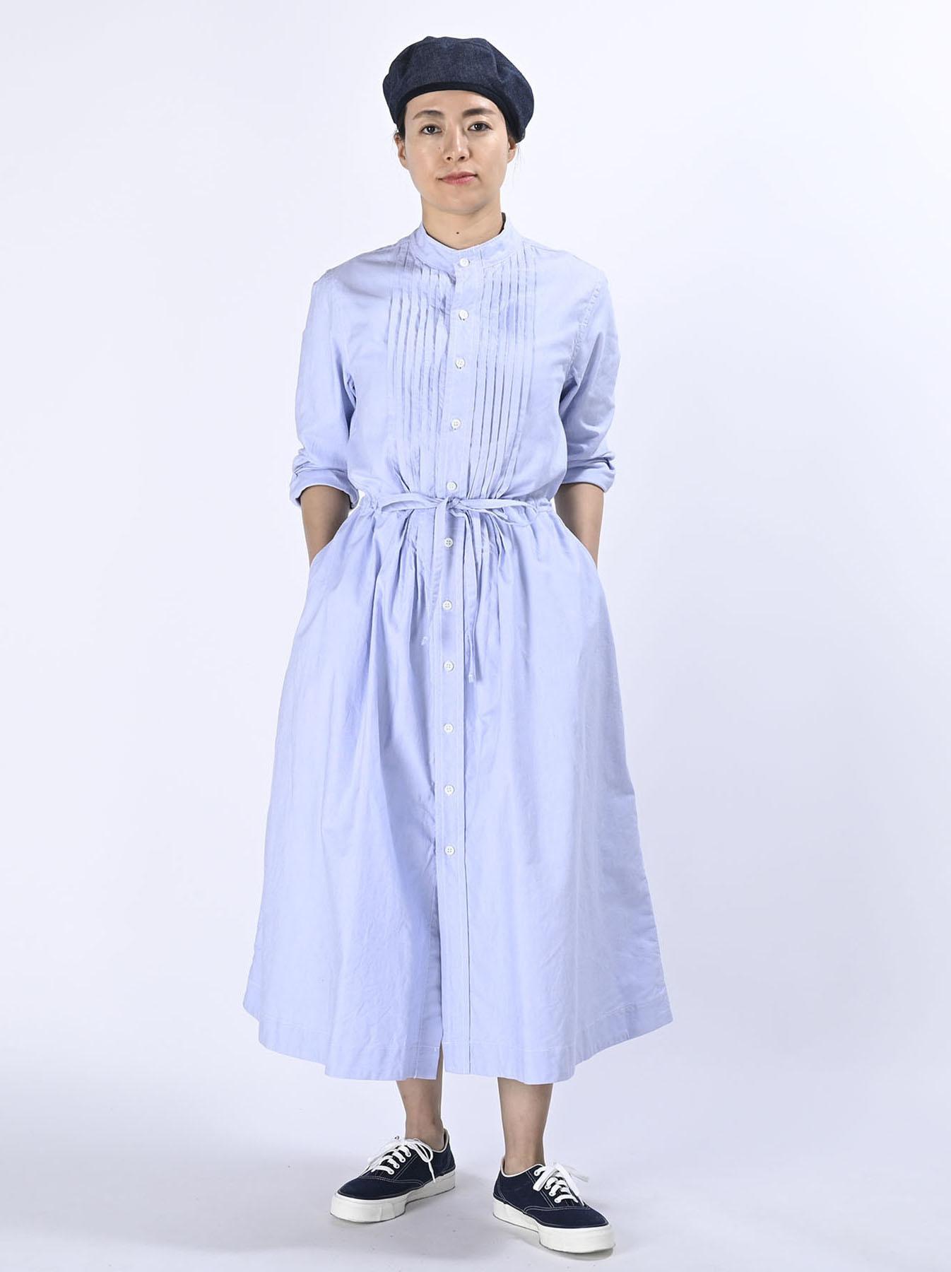 Zimbabwe Cotton Oxford Tuck Shirt Dress (0521)-3