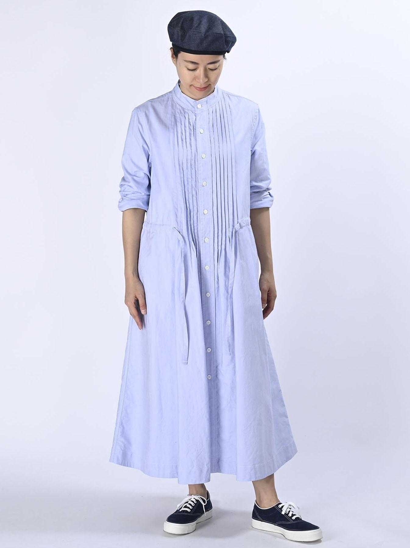 Zimbabwe Cotton Oxford Tuck Shirt Dress (0521)-2