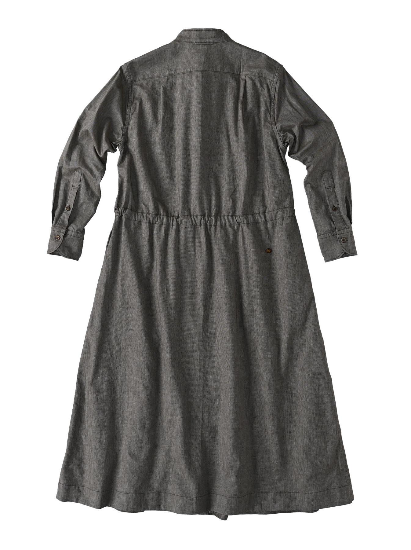 Zimbabwe Cotton Oxford Tuck Shirt Dress (0521)-7