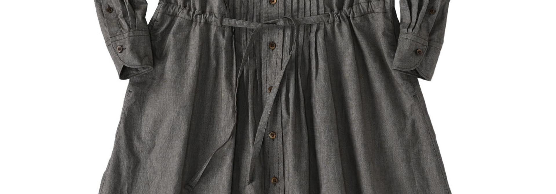 Zimbabwe Cotton Oxford Tuck Shirt Dress (0521)