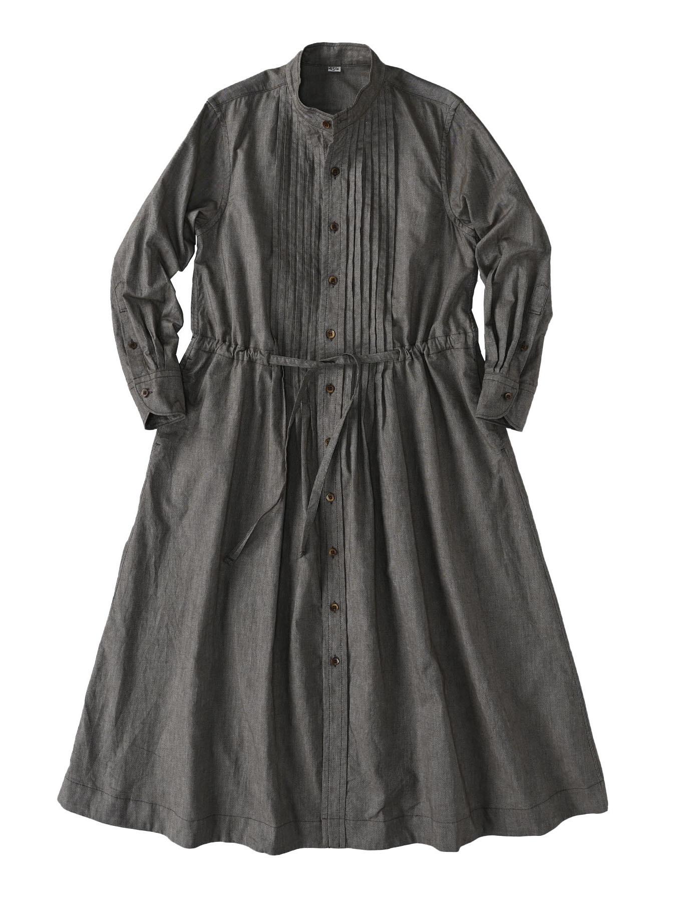 Zimbabwe Cotton Oxford Tuck Shirt Dress (0521)-1