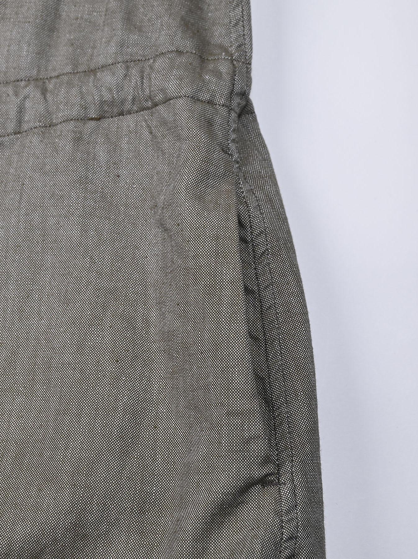 Zimbabwe Cotton Oxford Tuck Shirt Dress (0521)-9