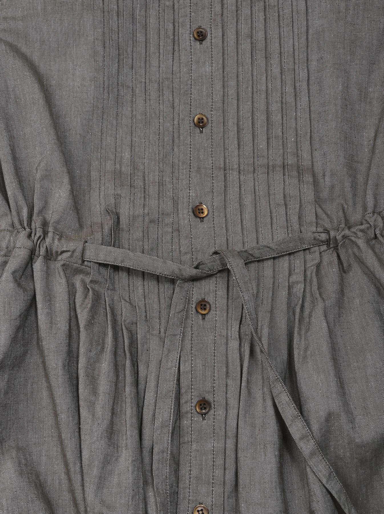 Zimbabwe Cotton Oxford Tuck Shirt Dress (0521)-10