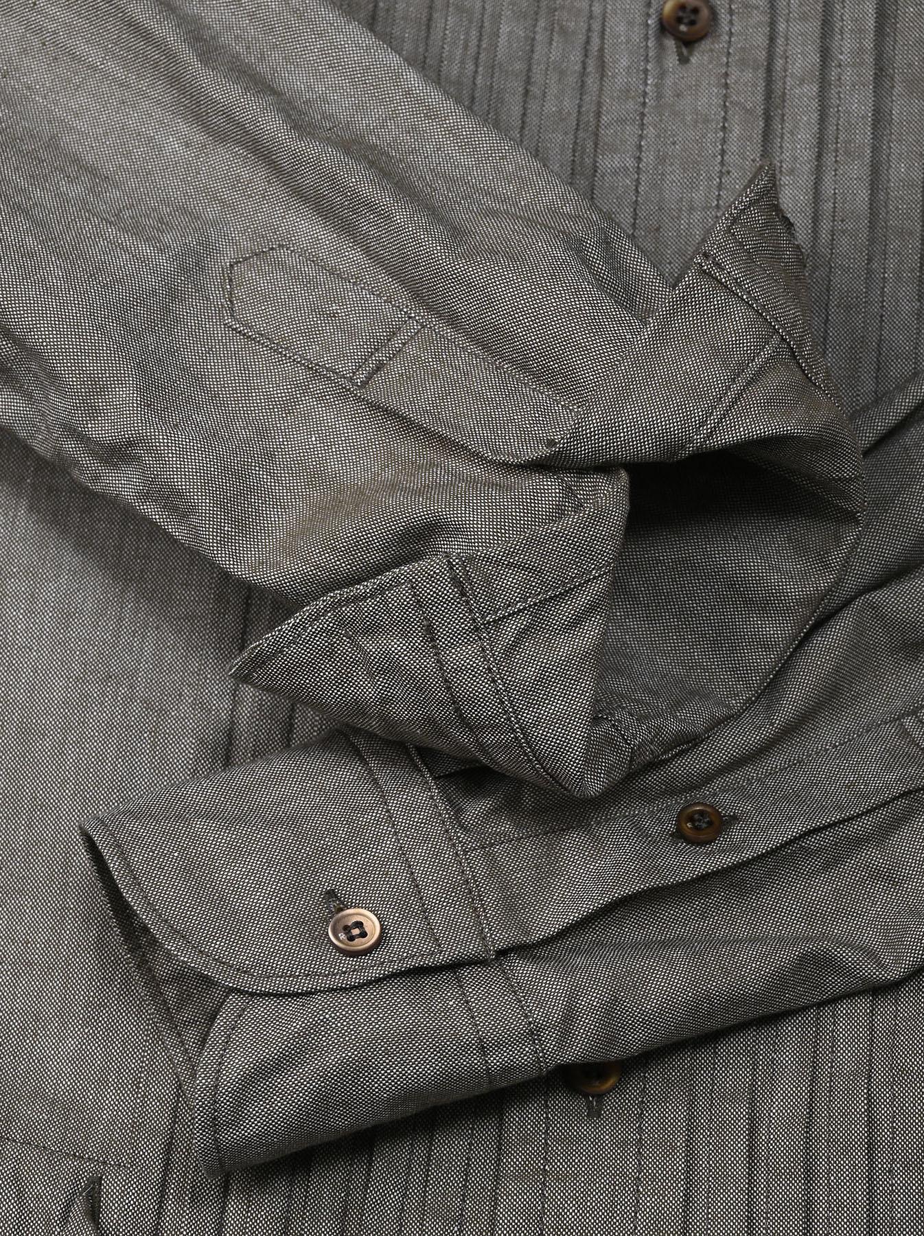 Zimbabwe Cotton Oxford Tuck Shirt Dress (0521)-11
