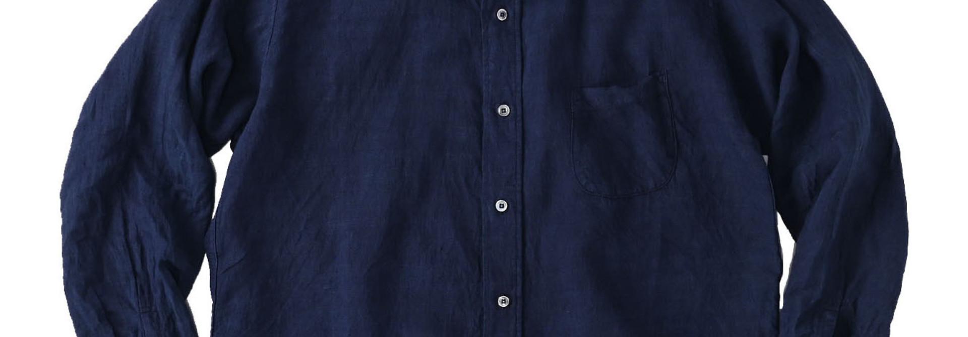 Indigo Indian Linen Flat 908 Ocean Shirt (0521)