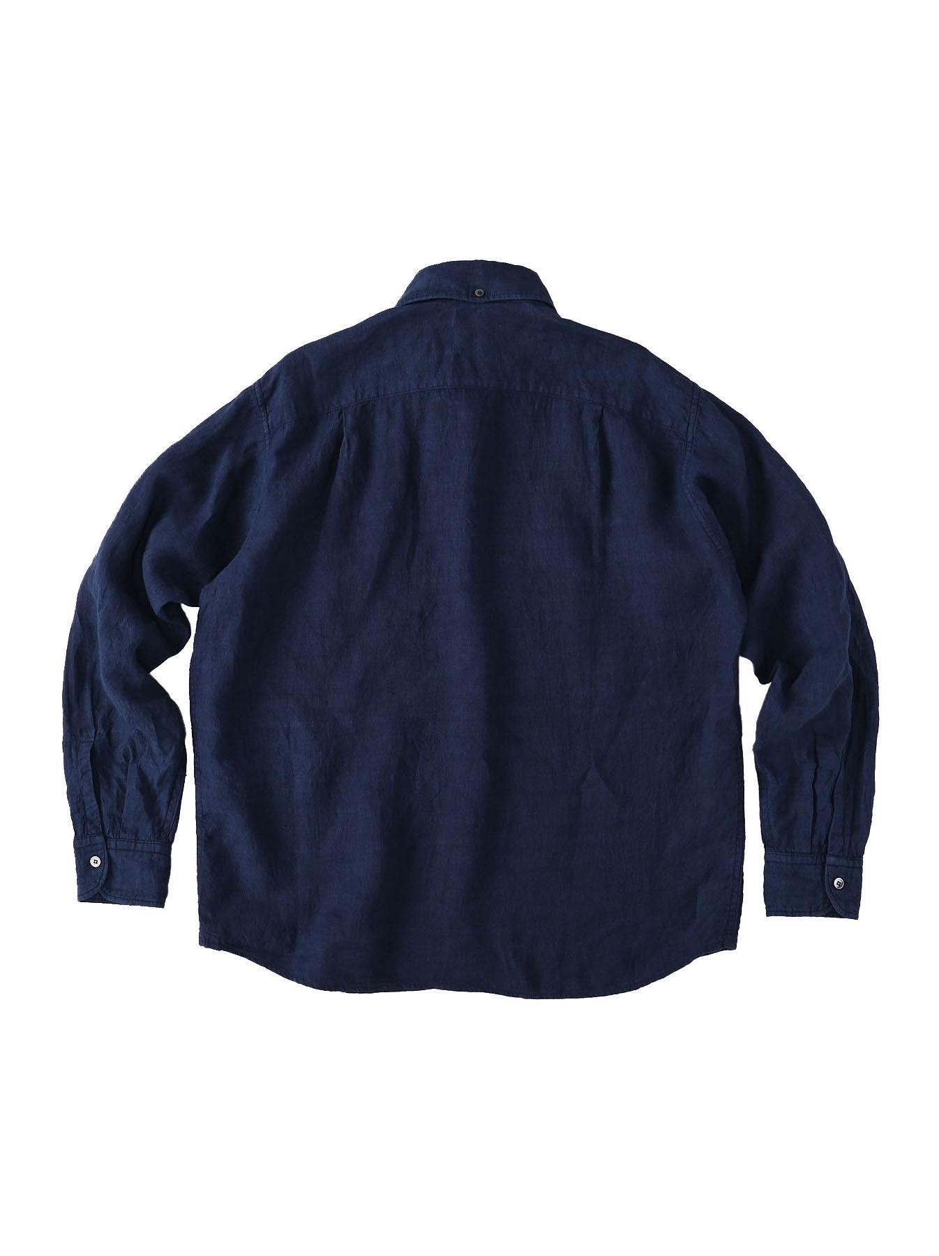 Indigo Indian Linen Flat 908 Ocean Shirt (0521)-6