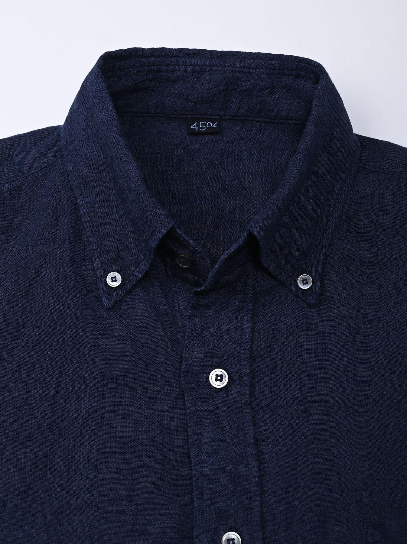 Indigo Indian Linen Flat 908 Ocean Shirt (0521)-7