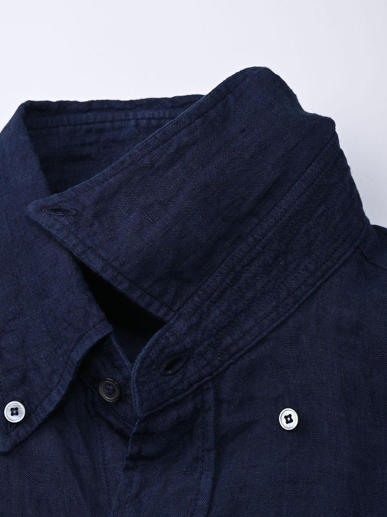 Indigo Indian Linen Flat 908 Ocean Shirt (0521)-8