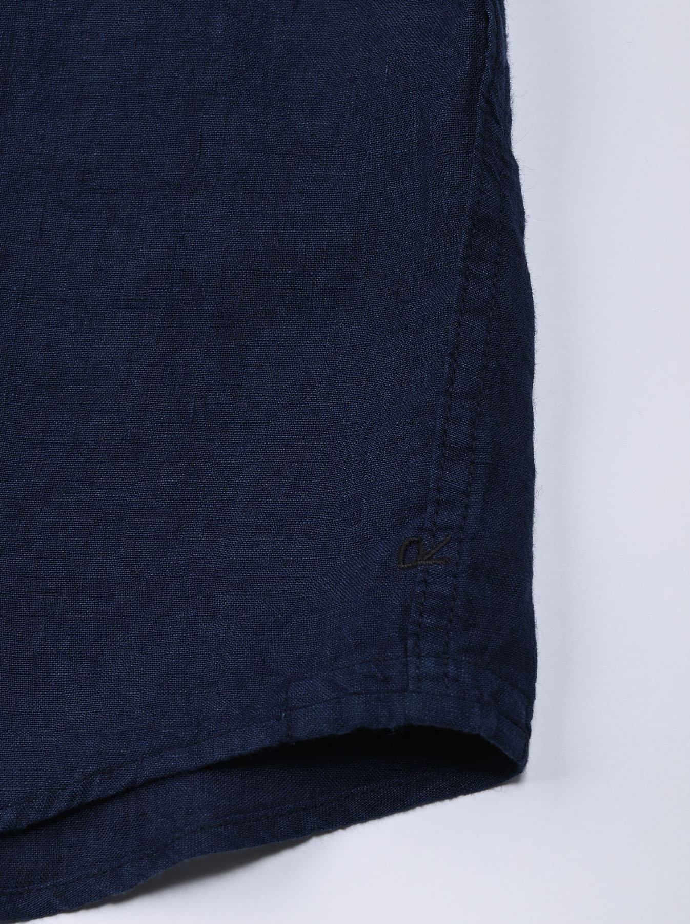 Indigo Indian Linen Flat 908 Ocean Shirt (0521)-9