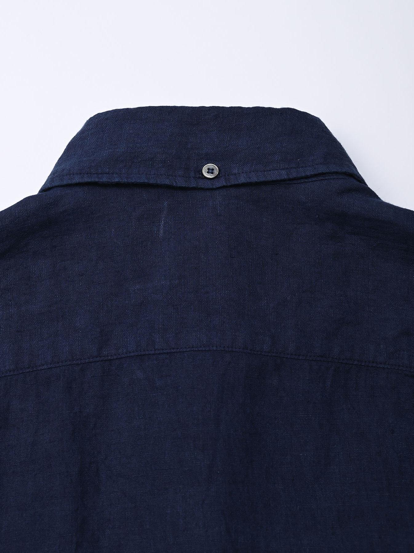Indigo Indian Linen Flat 908 Ocean Shirt (0521)-11