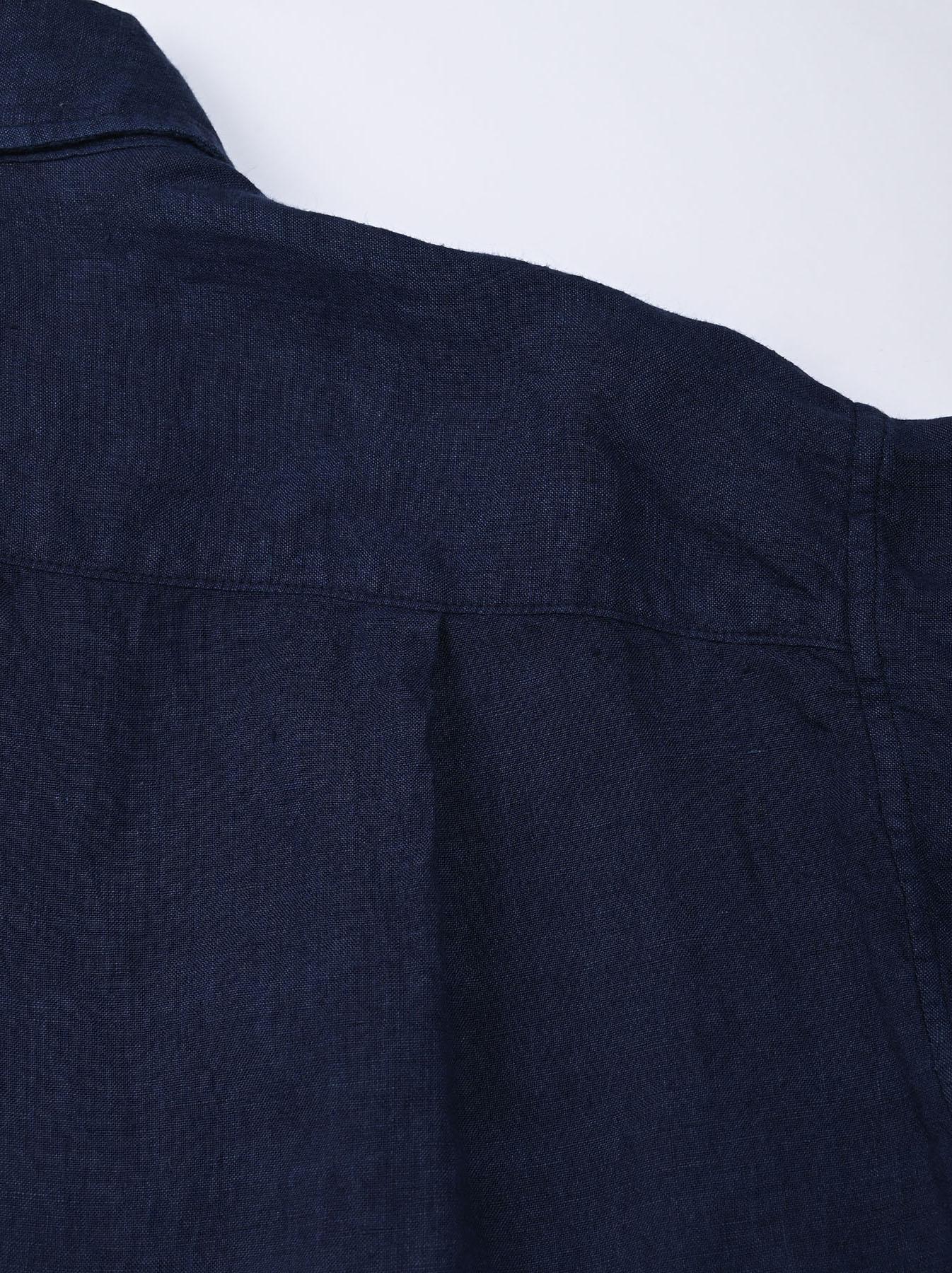 Indigo Indian Linen Flat 908 Ocean Shirt (0521)-12