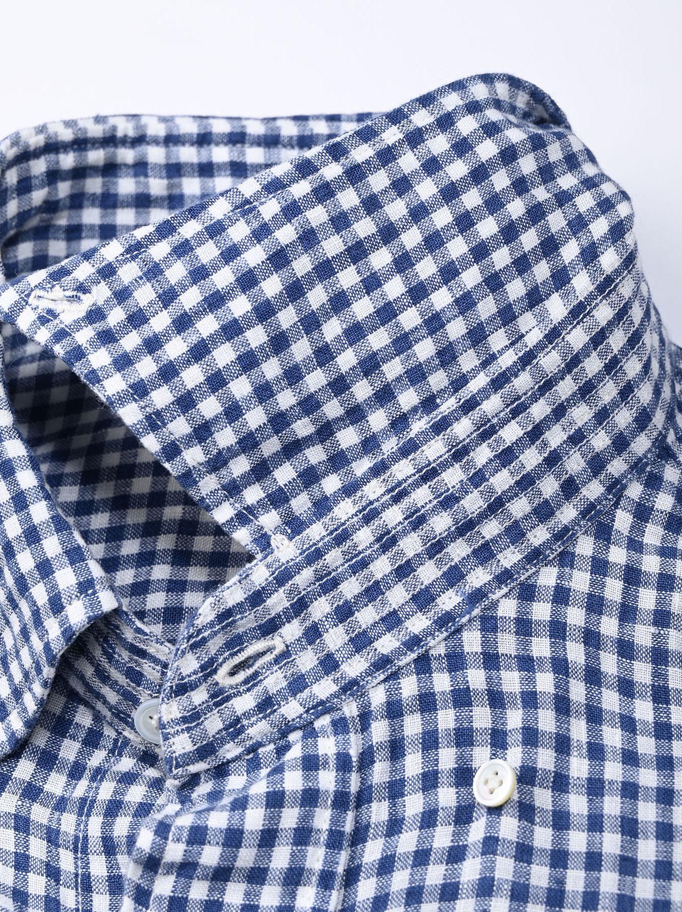 Indian Linen Flat 908 Ocean Shirt (0521)-9