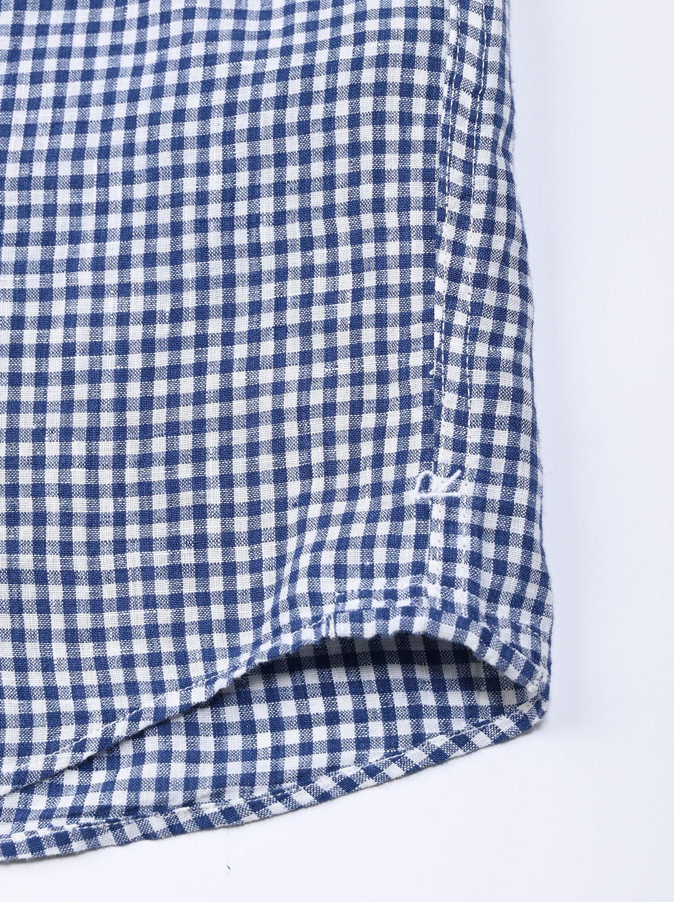 Indian Linen Flat 908 Ocean Shirt (0521)-10