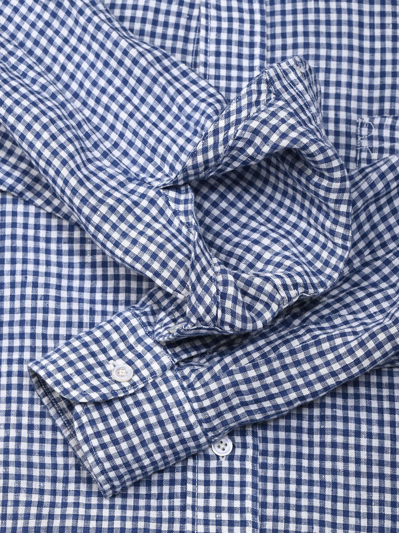 Indian Linen Flat 908 Ocean Shirt (0521)-11
