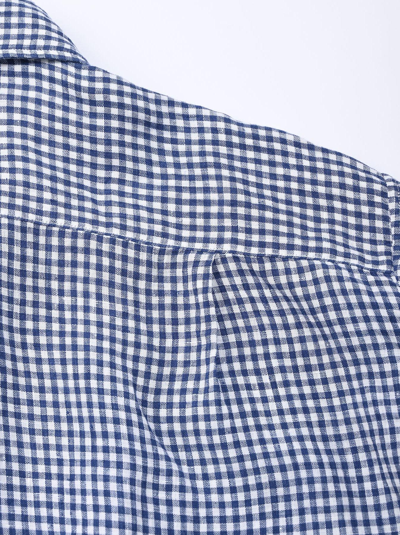 Indian Linen Flat 908 Ocean Shirt (0521)-12