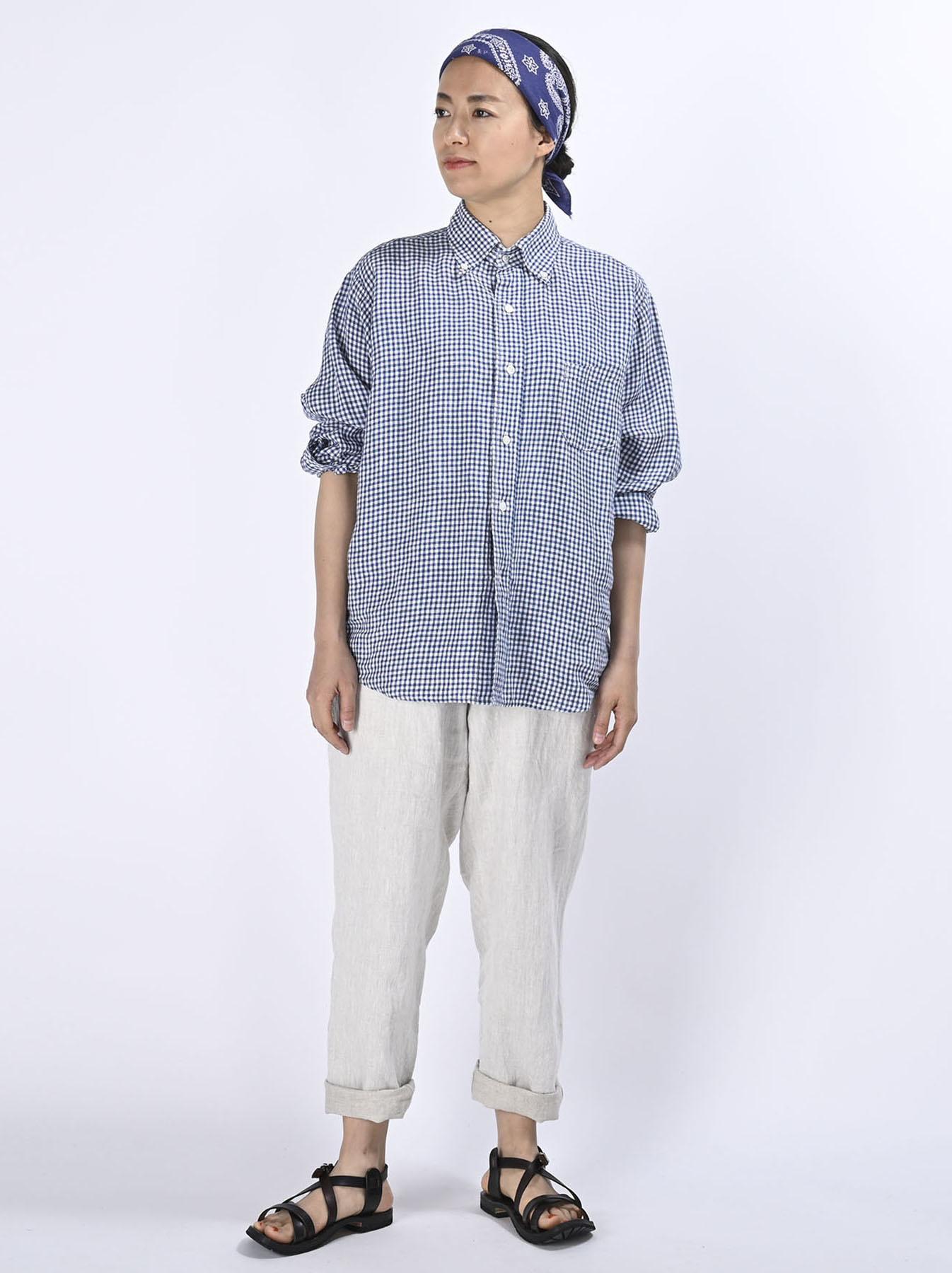 Indian Linen Flat 908 Ocean Shirt (0521)-2