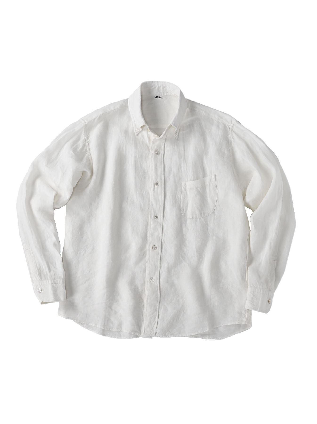 Indian Linen Flat 908 Ocean Shirt (0521)-1