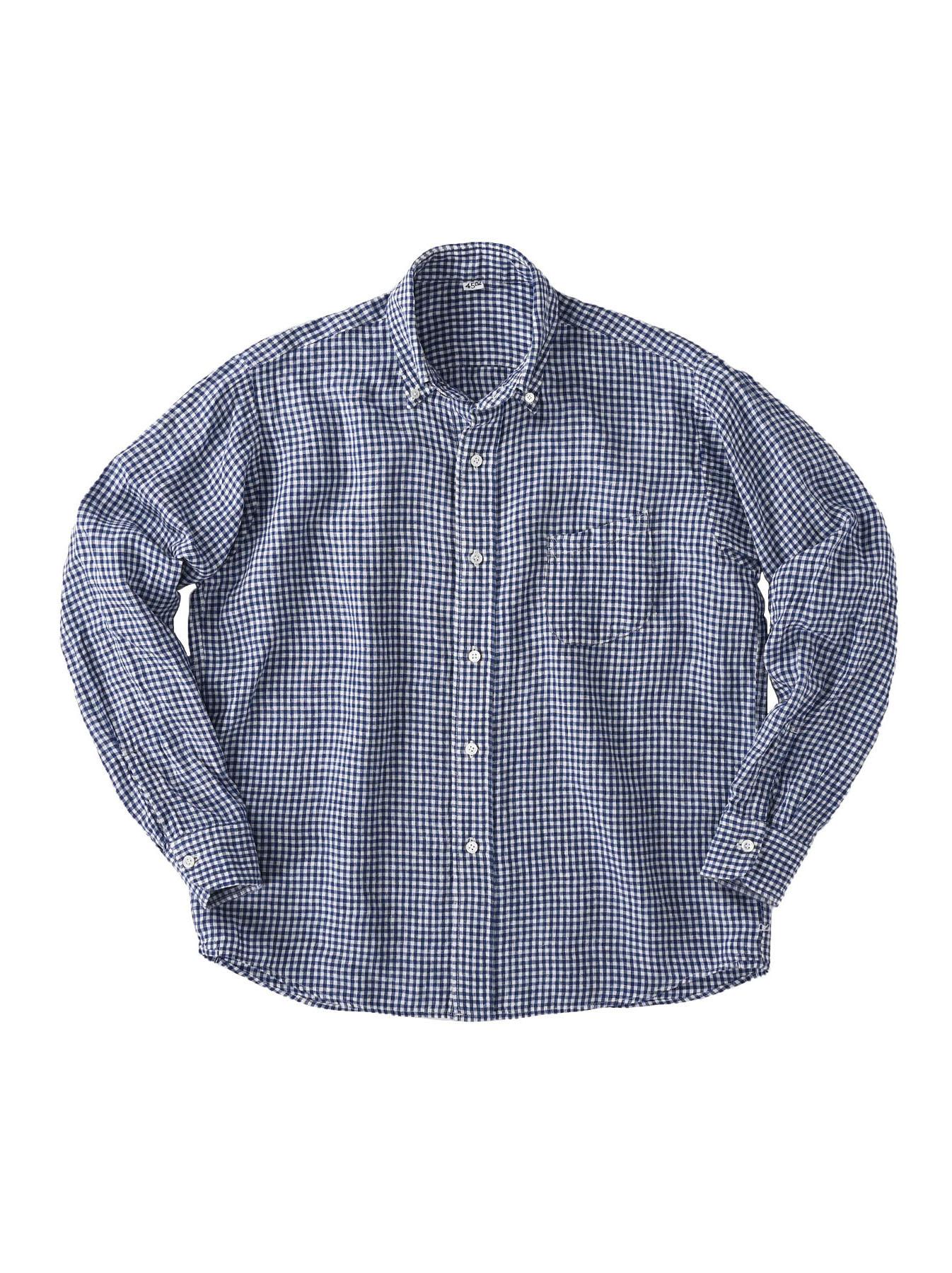 Indian Linen Flat 908 Ocean Shirt (0521)-6