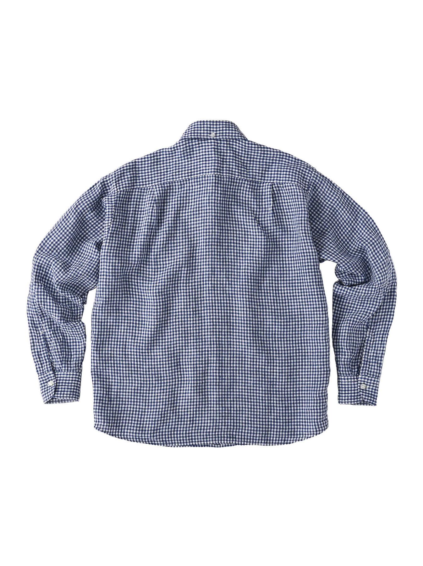 Indian Linen Flat 908 Ocean Shirt (0521)-7